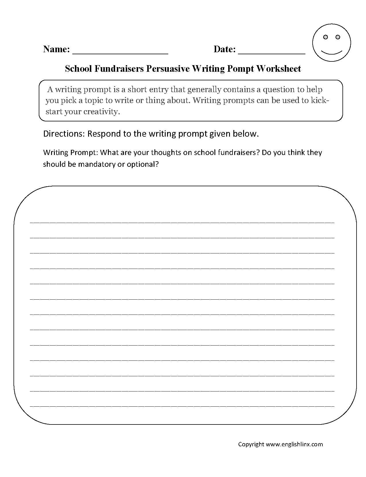 16 Best Images Of 4th Grade Writing Prompts Worksheets