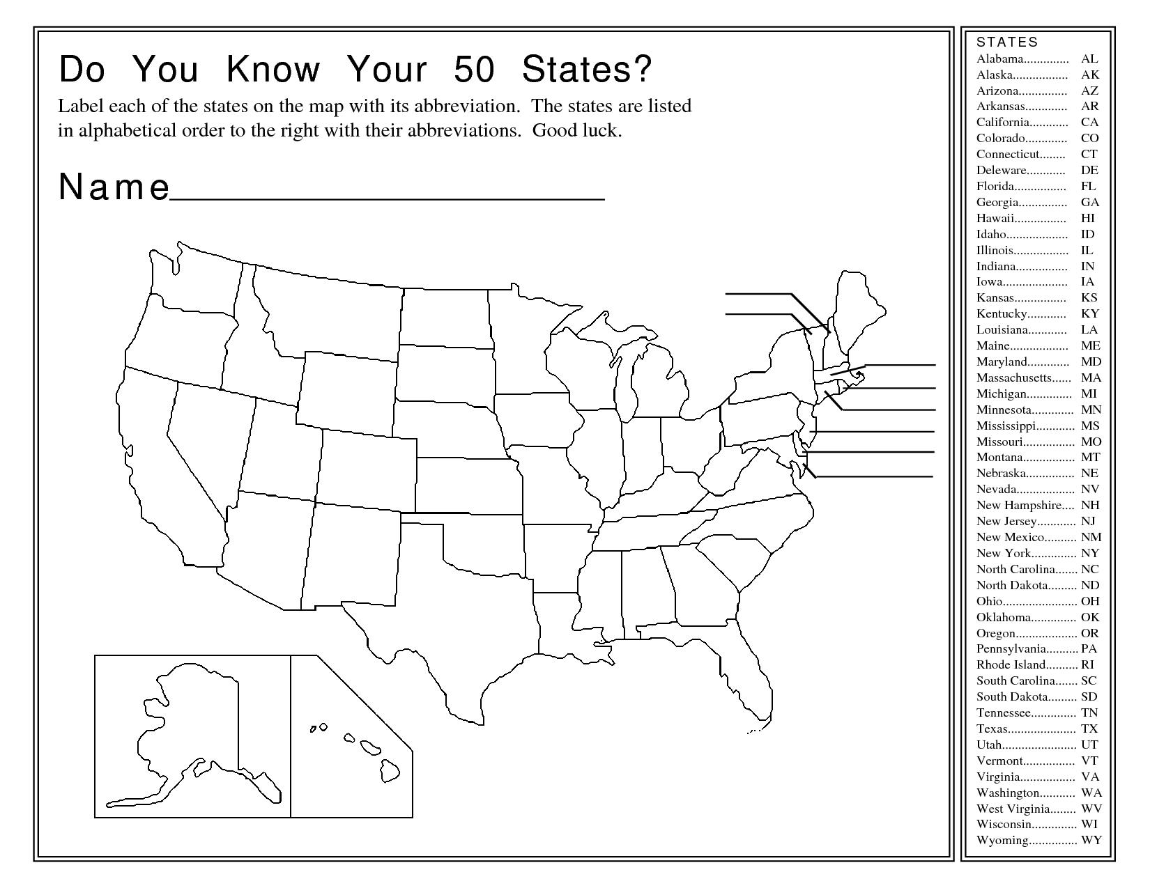 12 Best Images Of Us States Worksheets 5th Grade