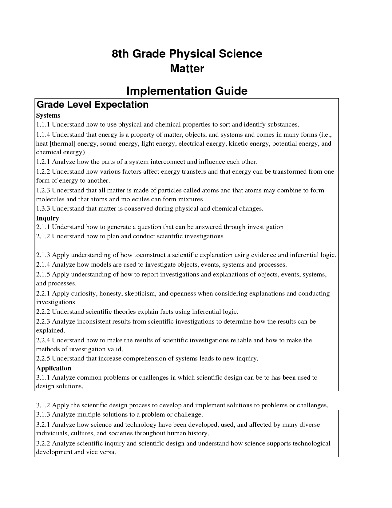 9 Best Images Of Physical Science Worksheets