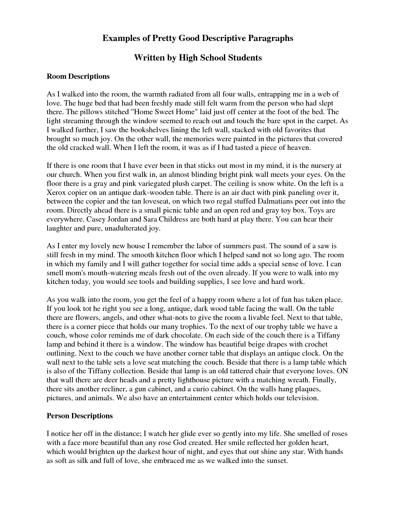 Write Personal Essay High School