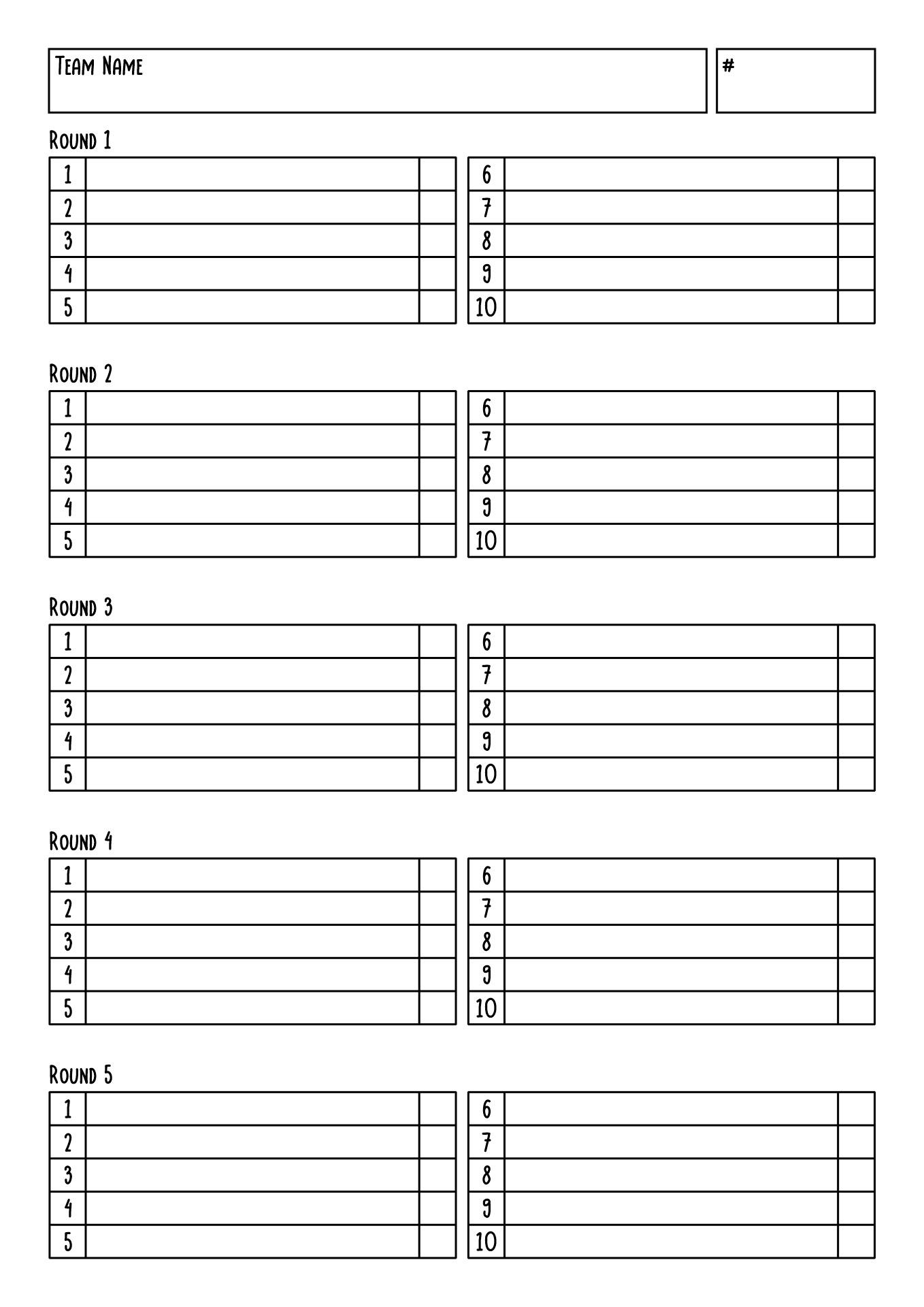 Blank Answer Sheet Template Answer Sheet To Math Homework Math