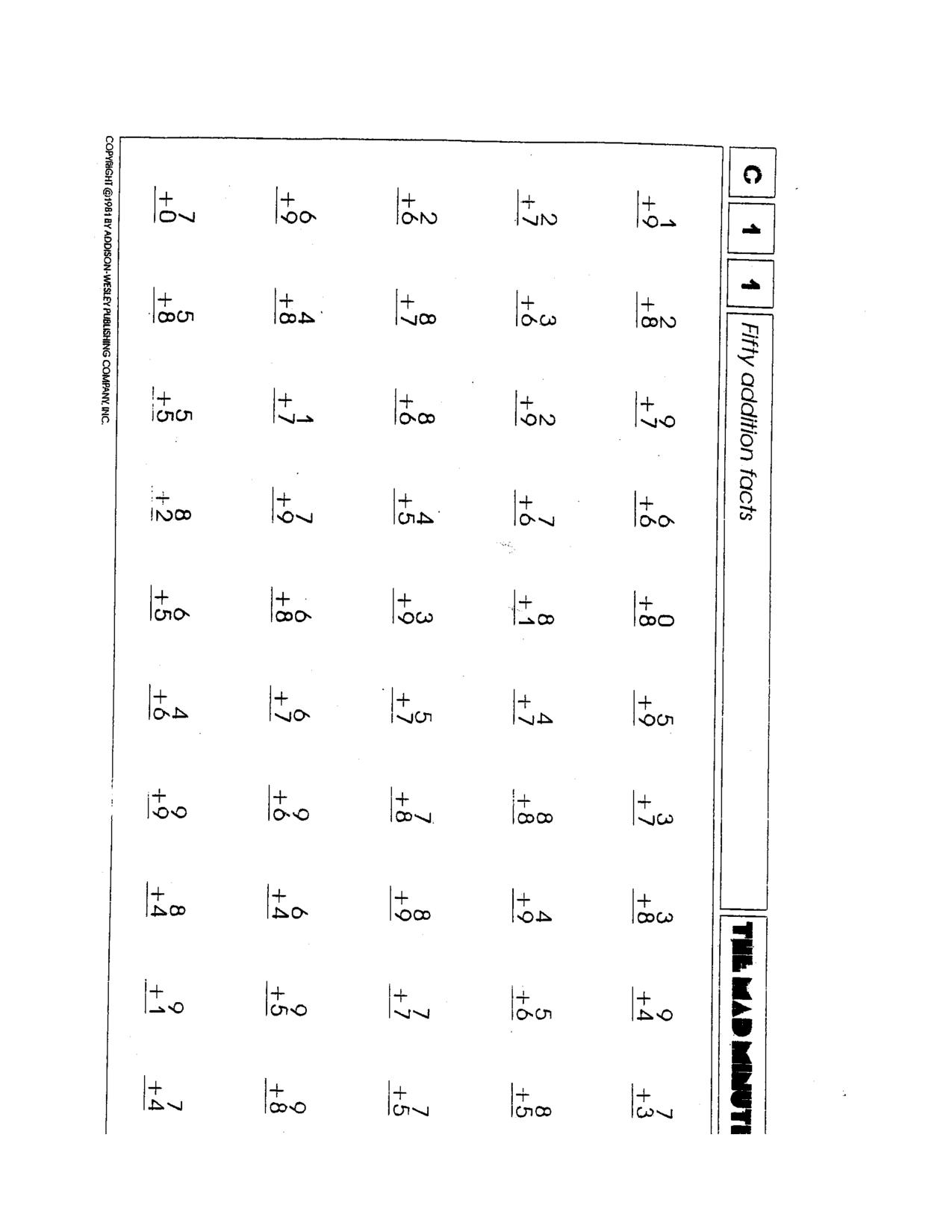 Printable Facing Math Worksheet 4th Grade