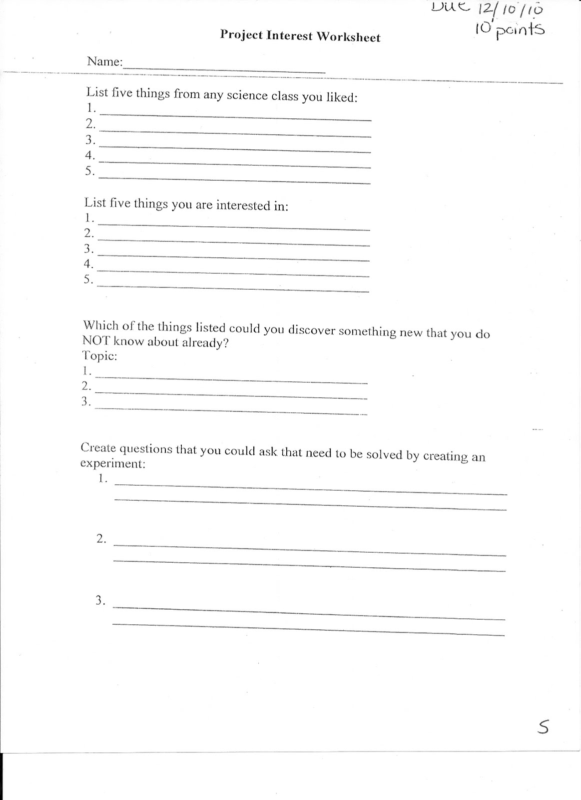 14 Best Images Of 5th Grade Science Variable Worksheet