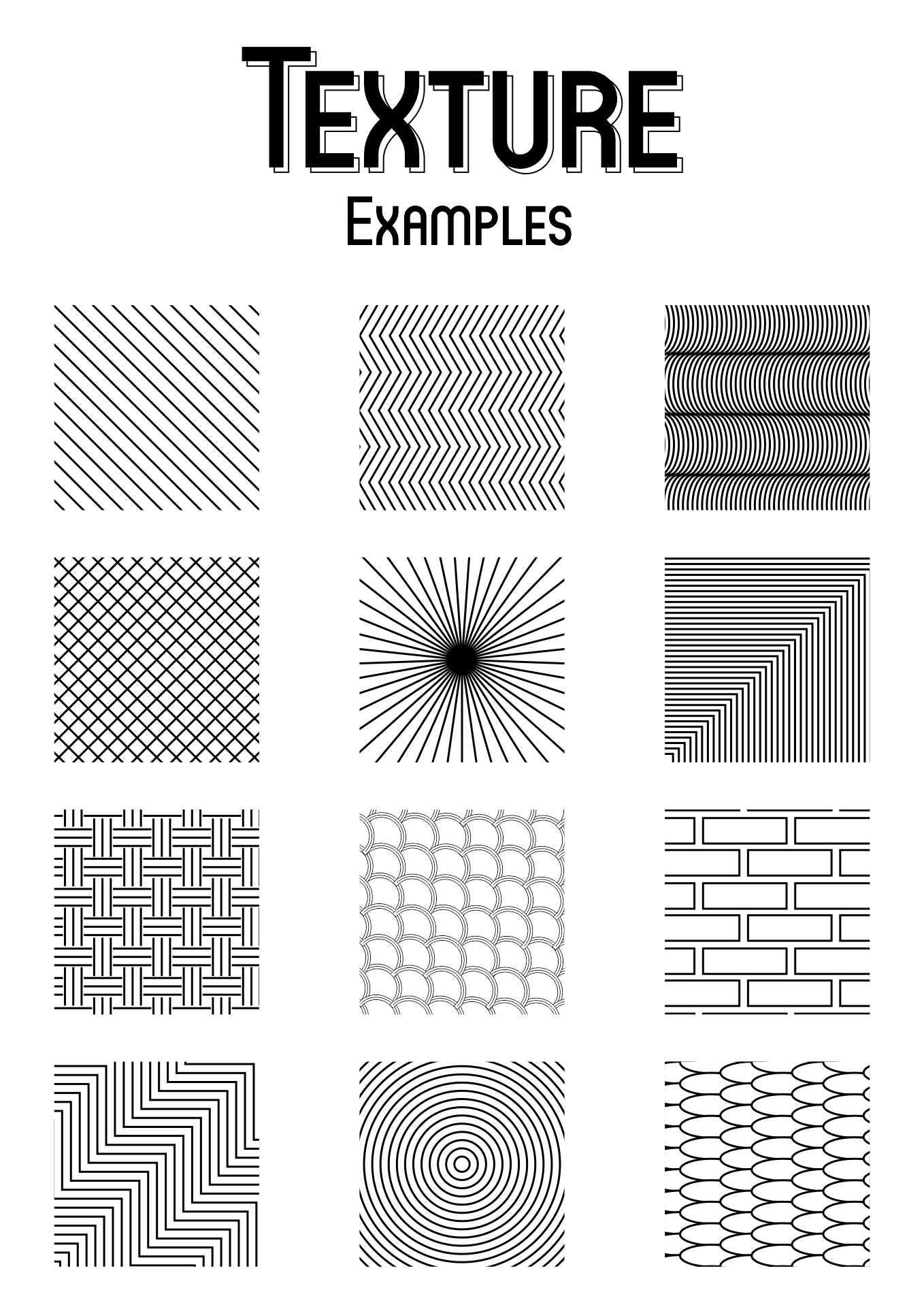 9 Best Images Of Drawing Texture Worksheet