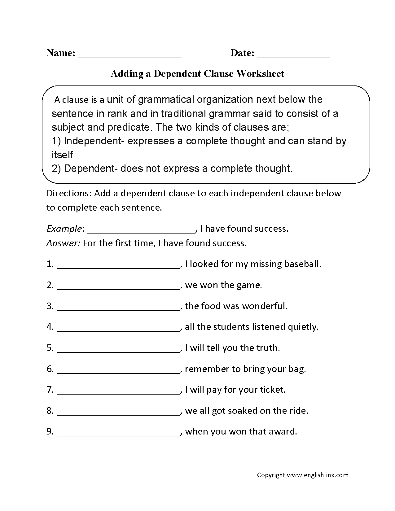11 Best Images Of Types Of Sentences Worksheet 2nd Grade