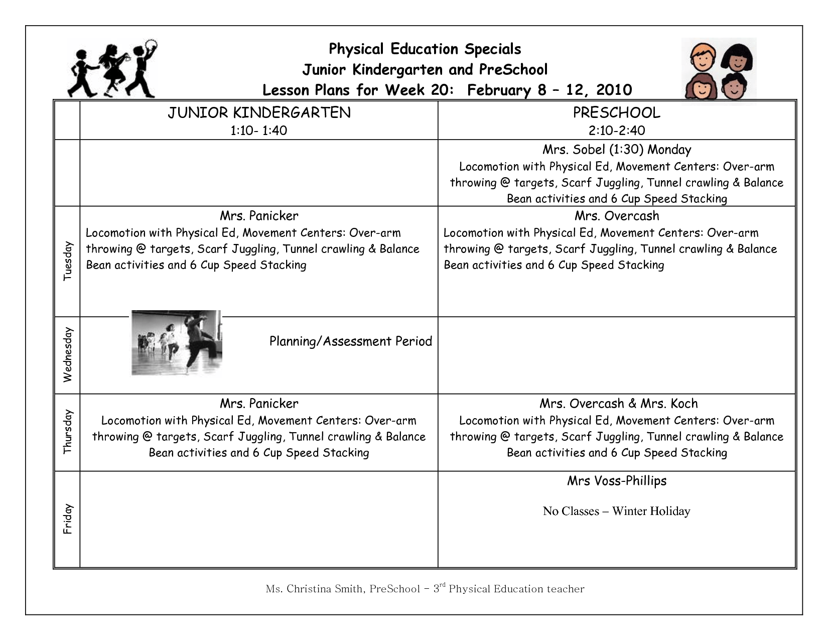 Timeout Worksheet Pe