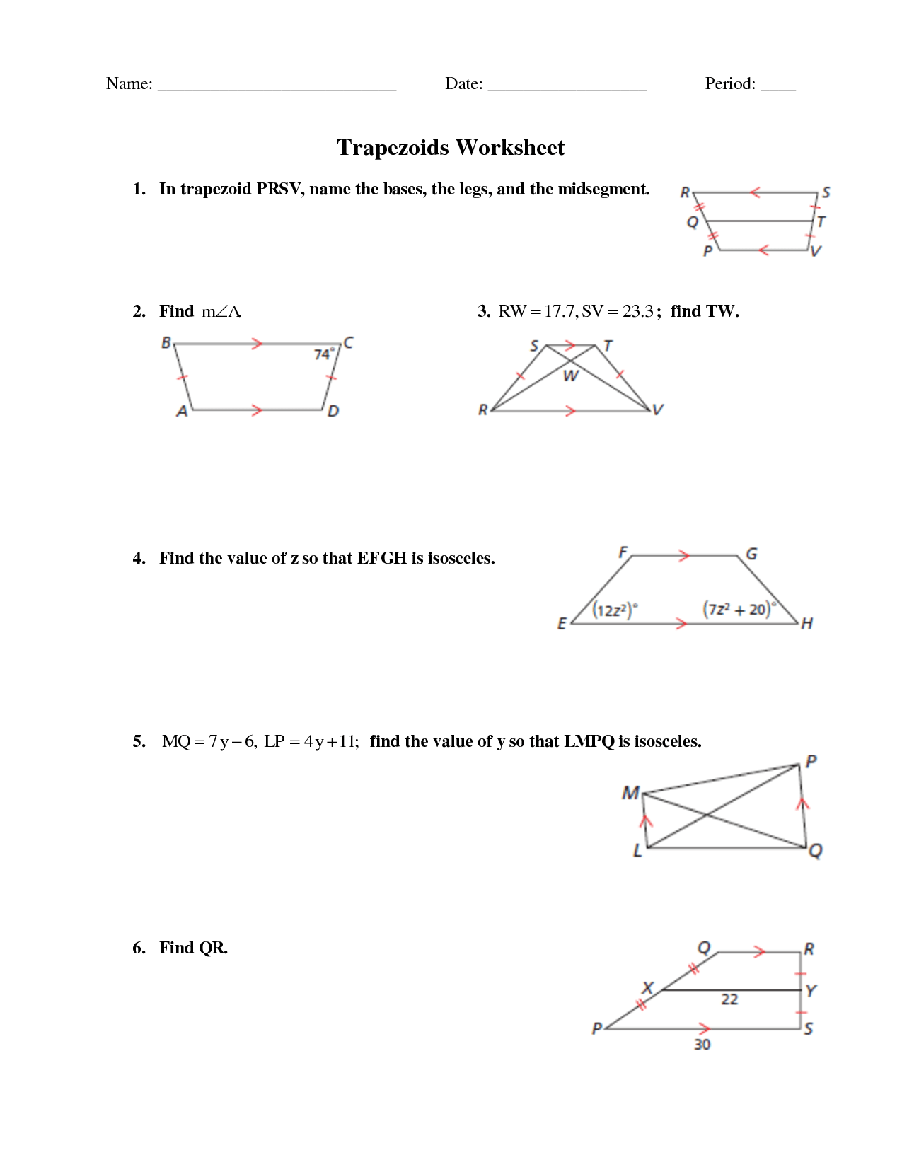 Parallel Line Worksheet