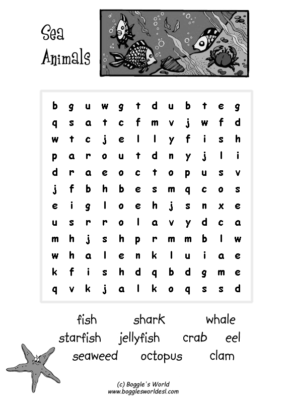 9 Best Images Of Forest Animal Worksheets Sea Animals