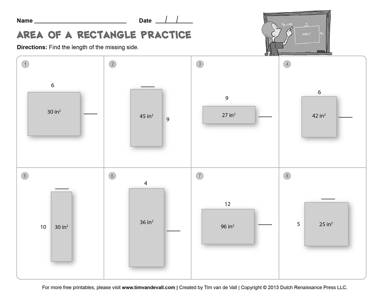 Wordp Area Perimeter Worksheet 3rd Grade