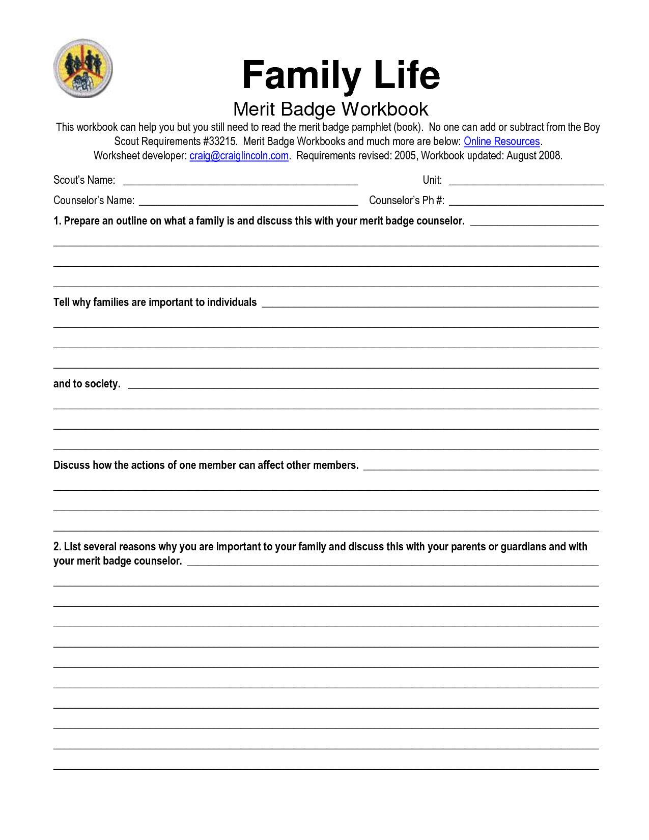 14 Best Images Of Life Roles Worksheet