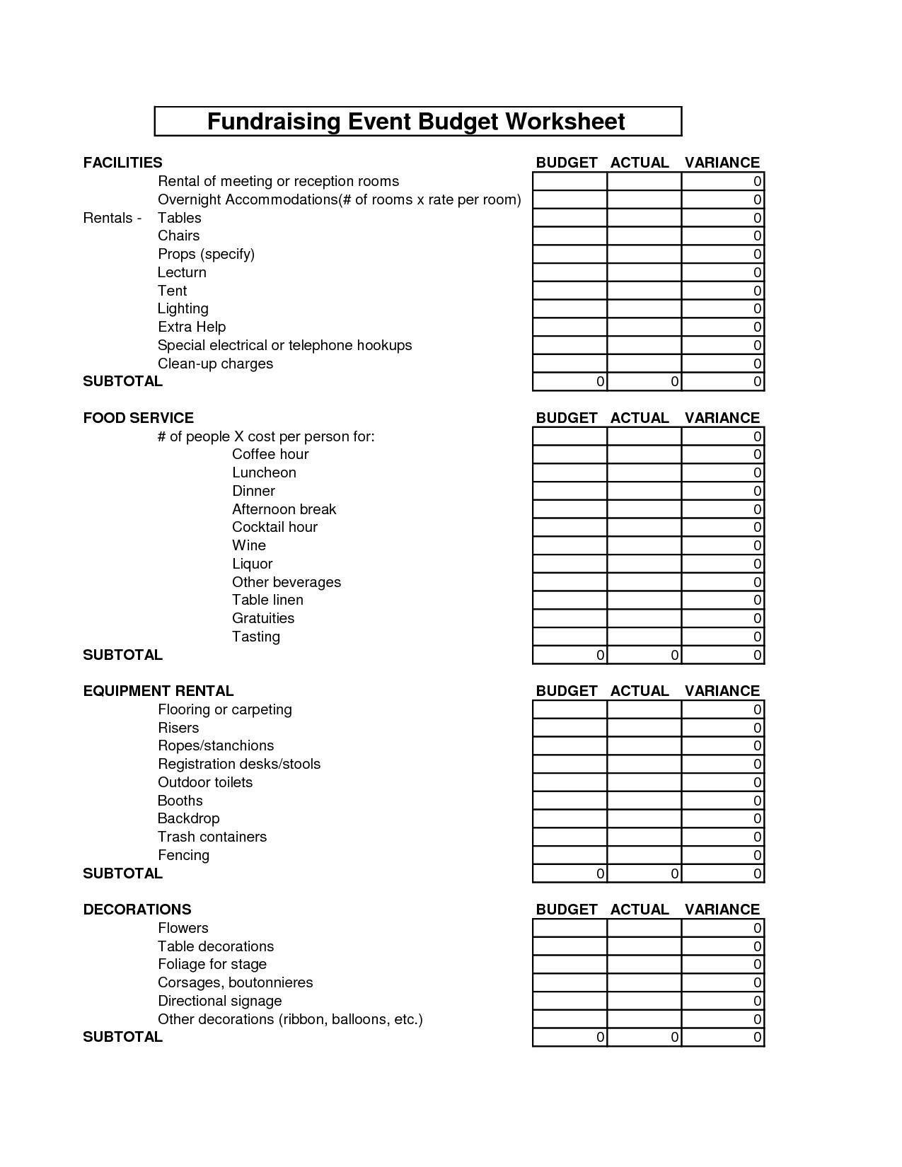 17 Best Images Of Sample Home Budget Worksheet
