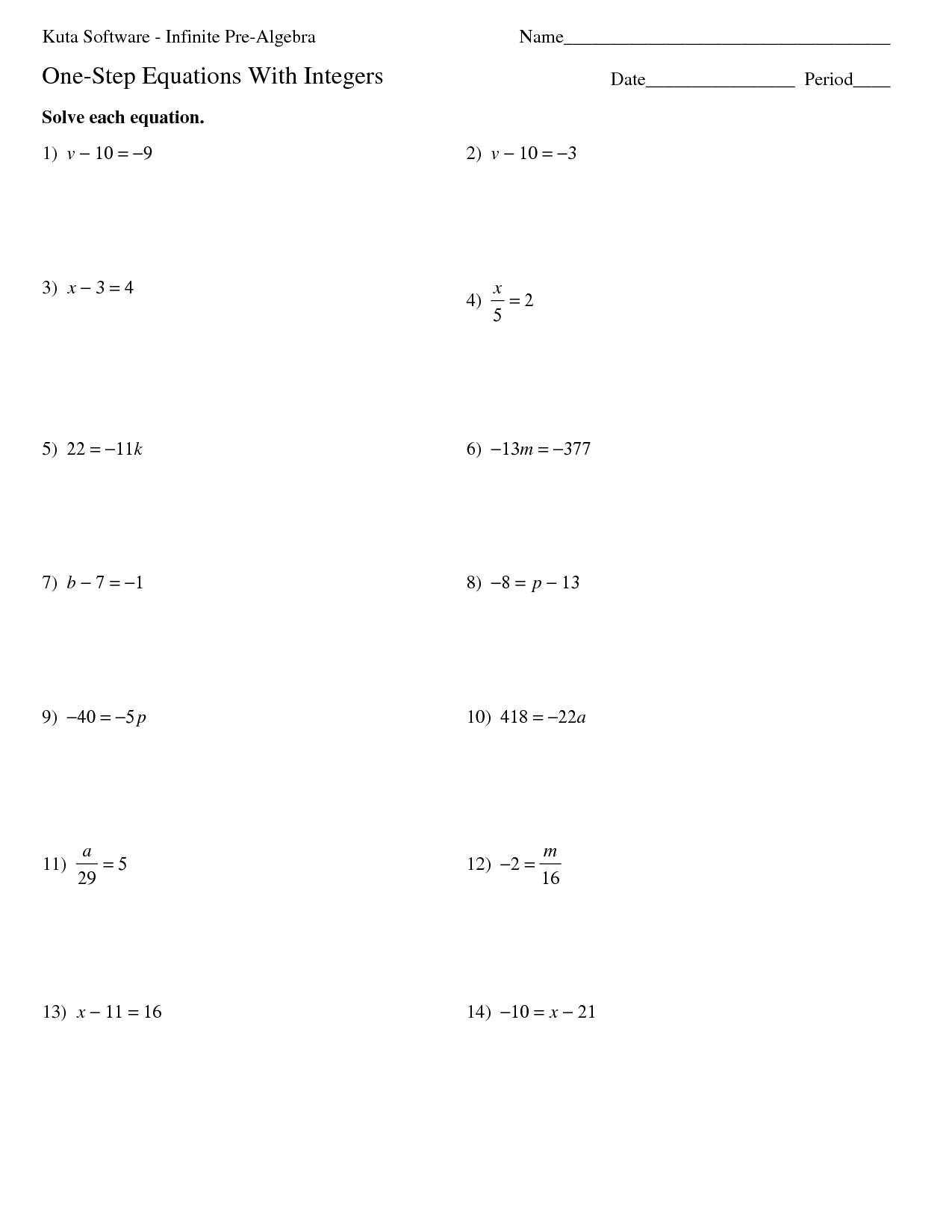 15 Best Images Of Kuta Algebra I Worksheets