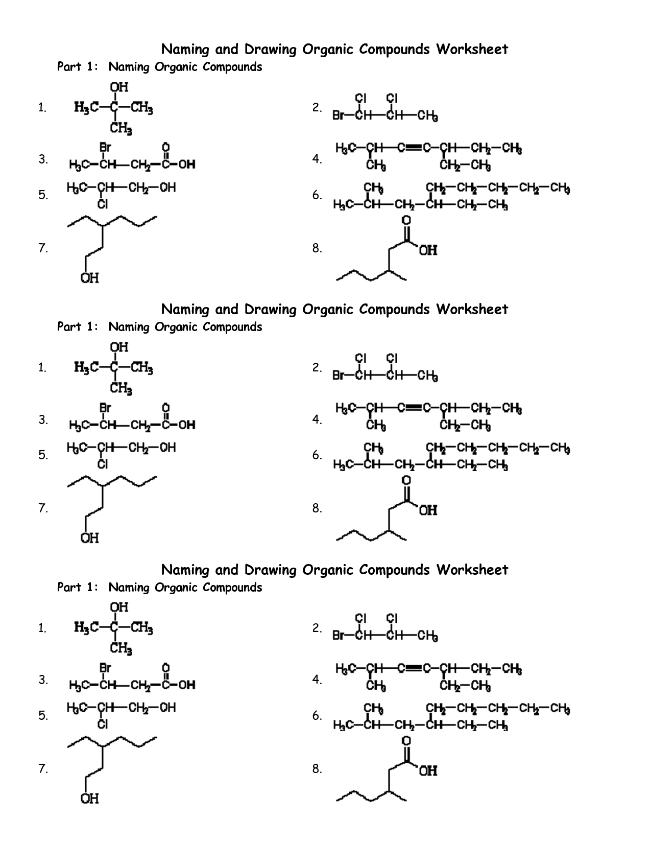 Naming Molecular Compounds Using Prefixes Worksheet