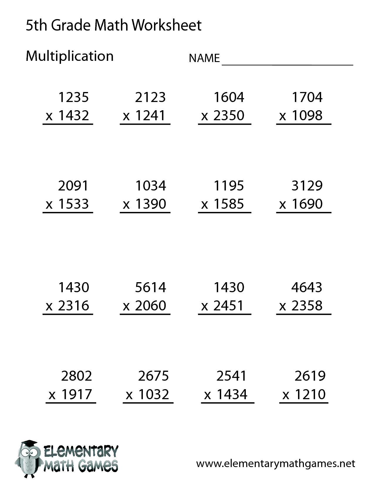5th Grade Worksheet Category Page 2
