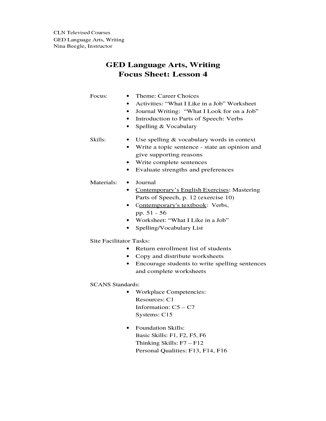 17 Best Images Of Ged English Worksheets Printable