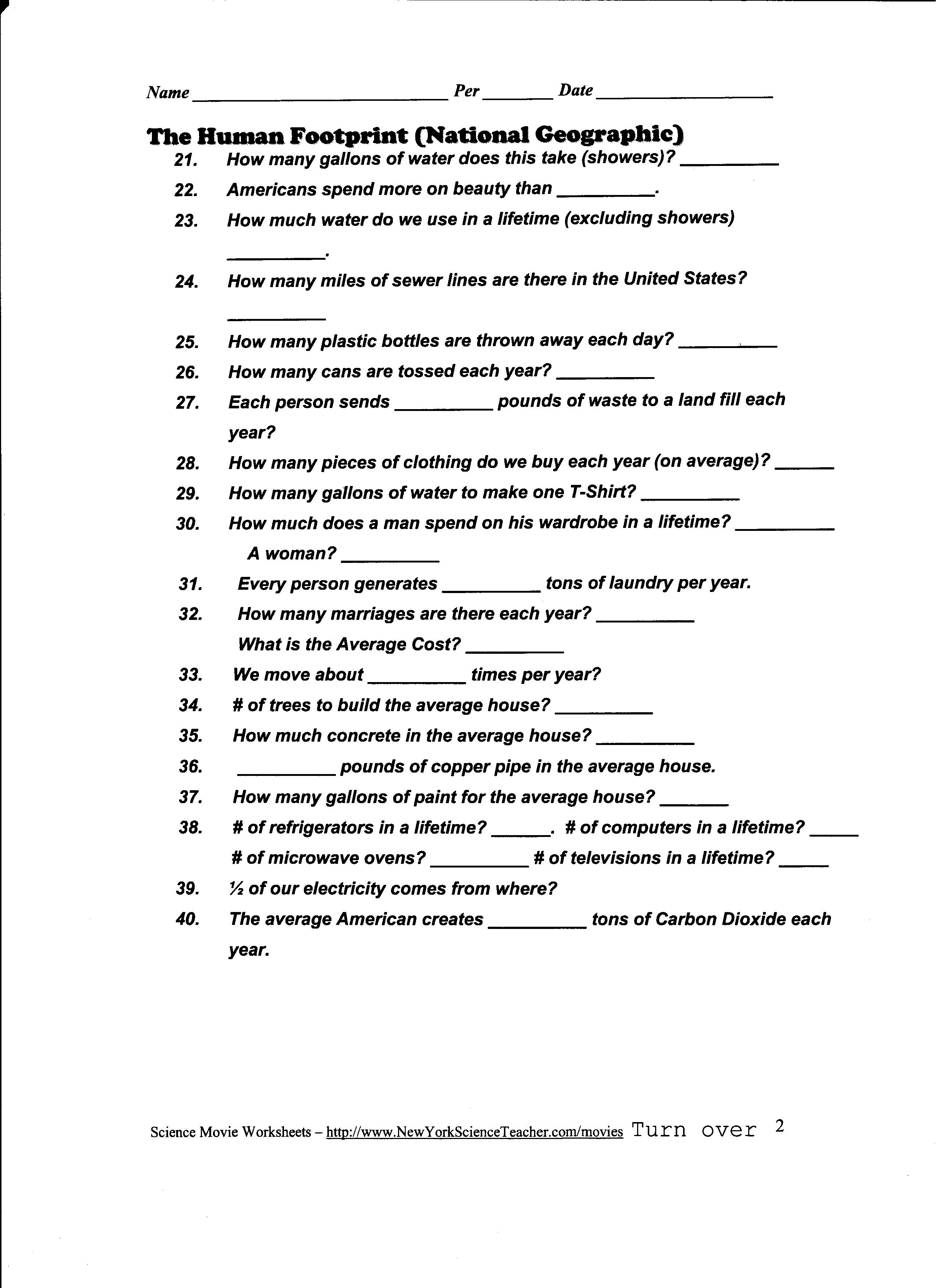 10 Best Images Of Ecological Succession Worksheet Answer Key