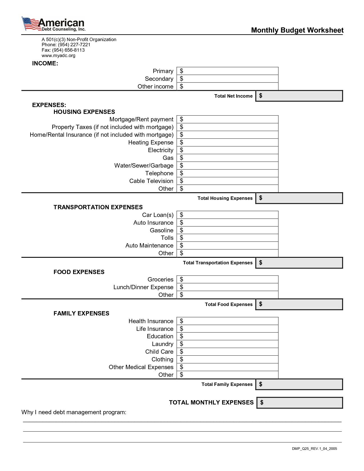 15 Best Images Of Mortgage Budget Worksheet