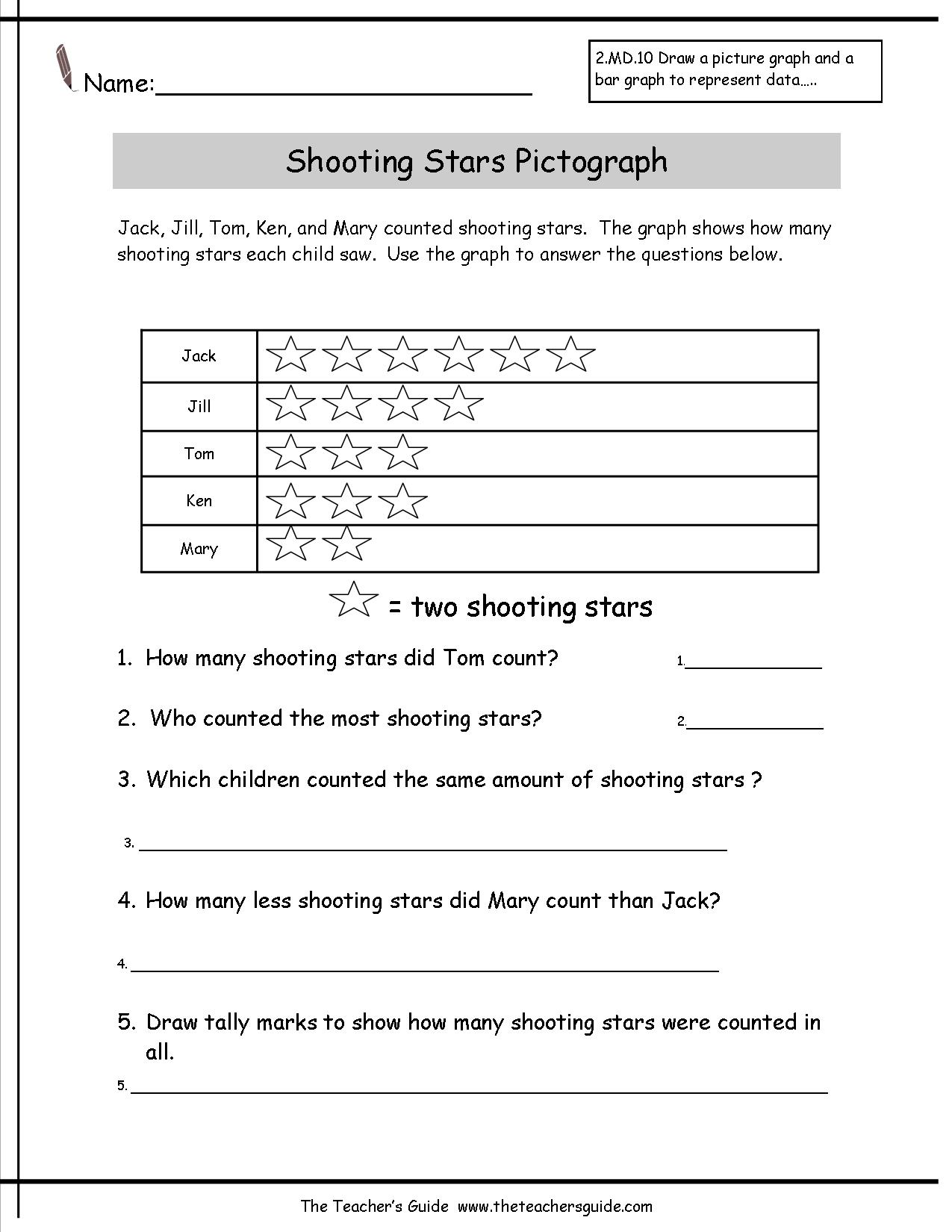 14 Best Images Of Free Pictograph Worksheets