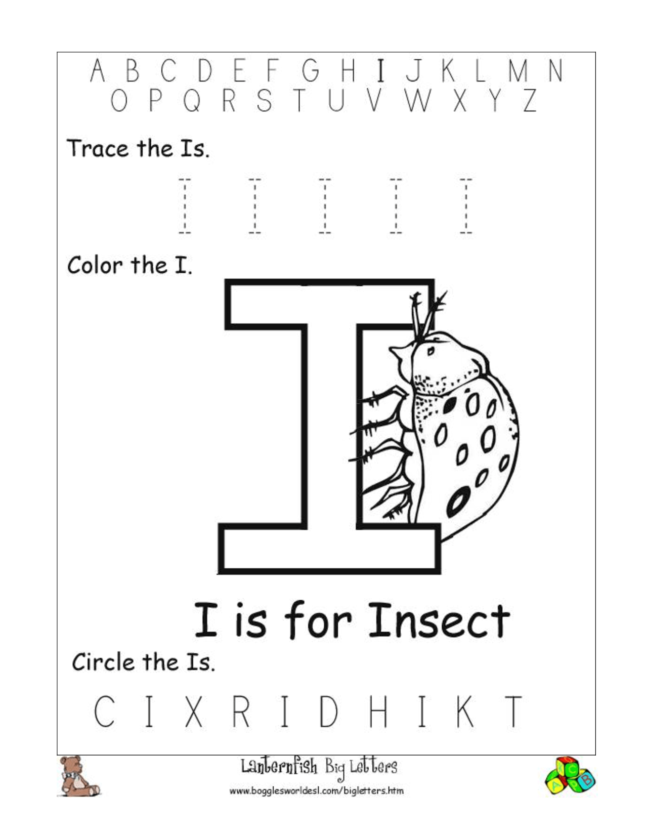 9 Best Images Of Letter Ii Worksheets