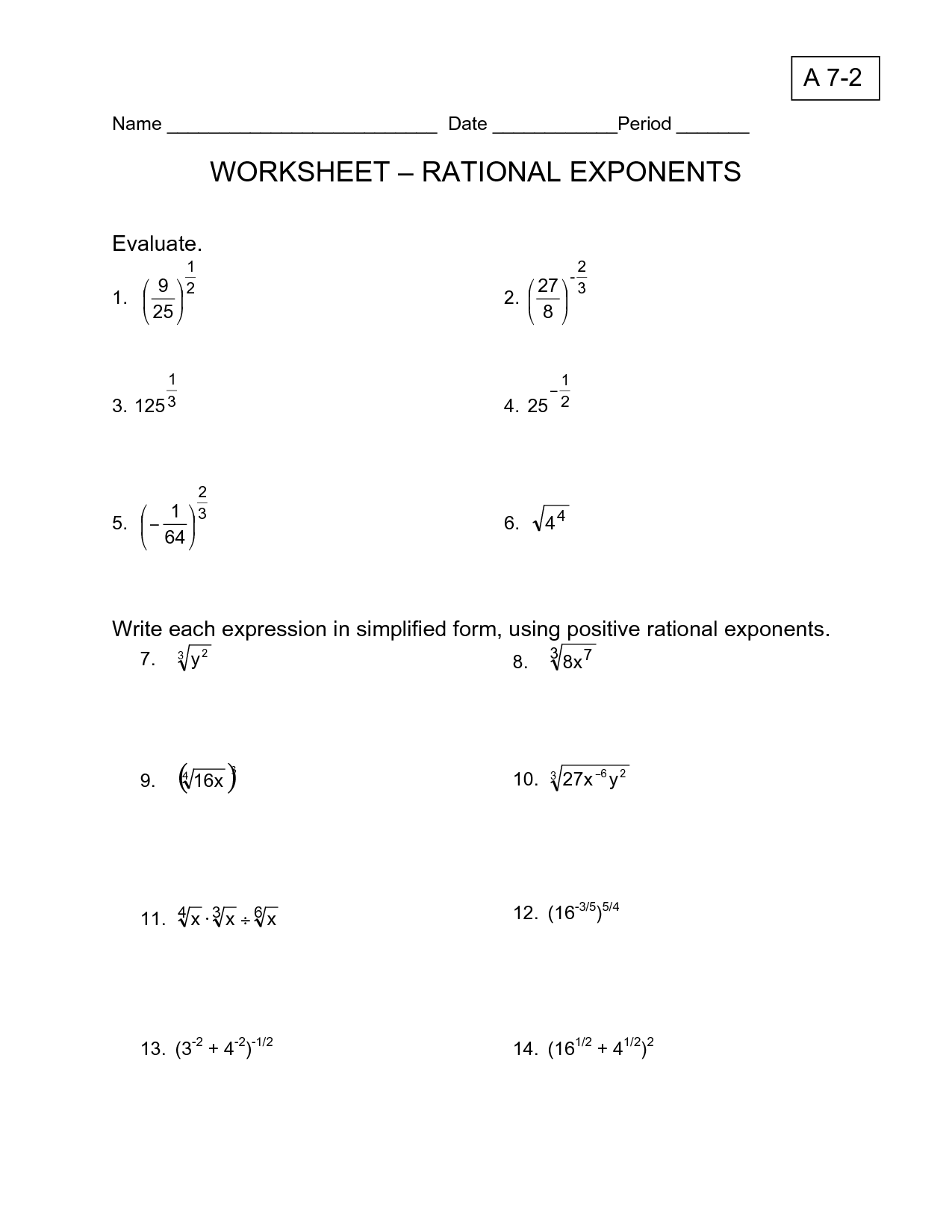 14 Best Images Of Rational Equations Worksheet With
