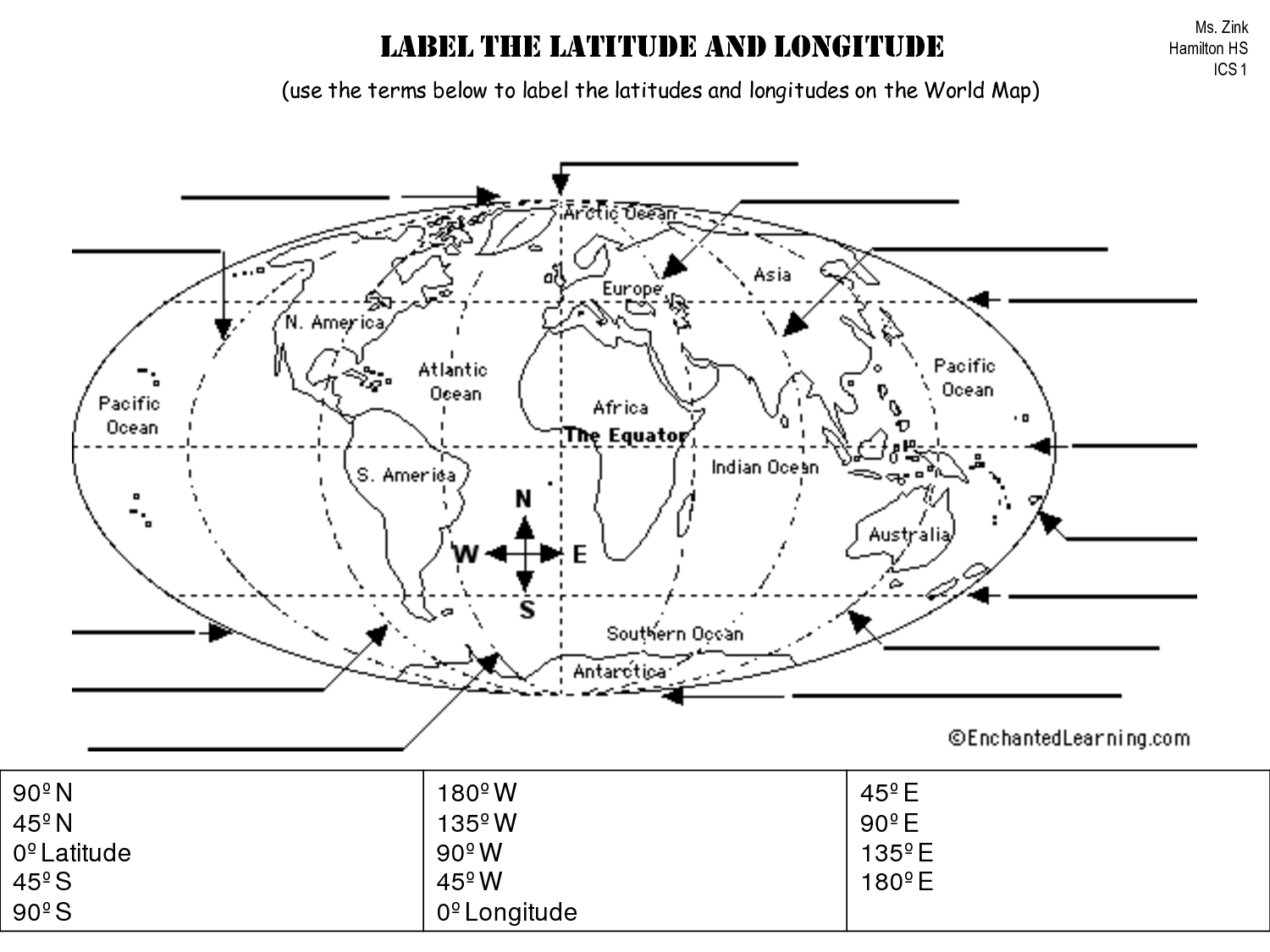 7 Best Images Of World Map Label Worksheet