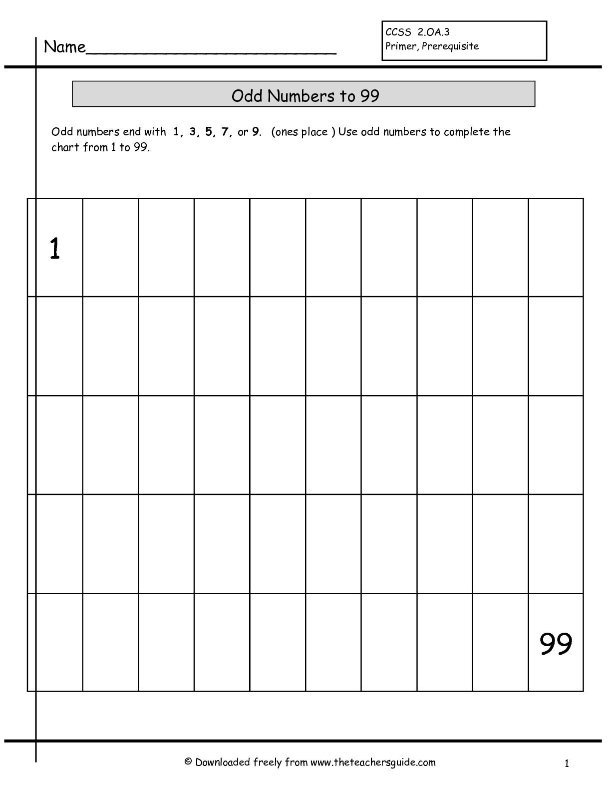 14 Best Images Of Writing 1 To 100 Worksheets