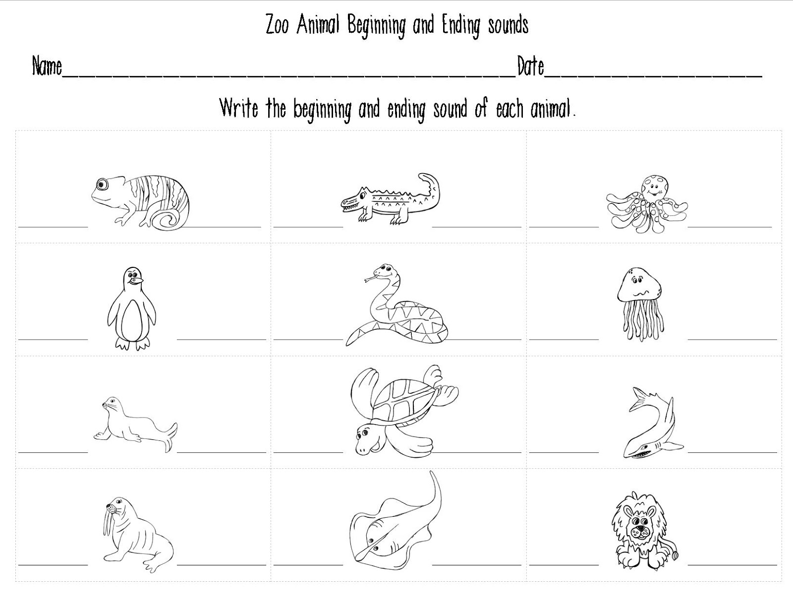 Canadian Animal Sounds Worksheet