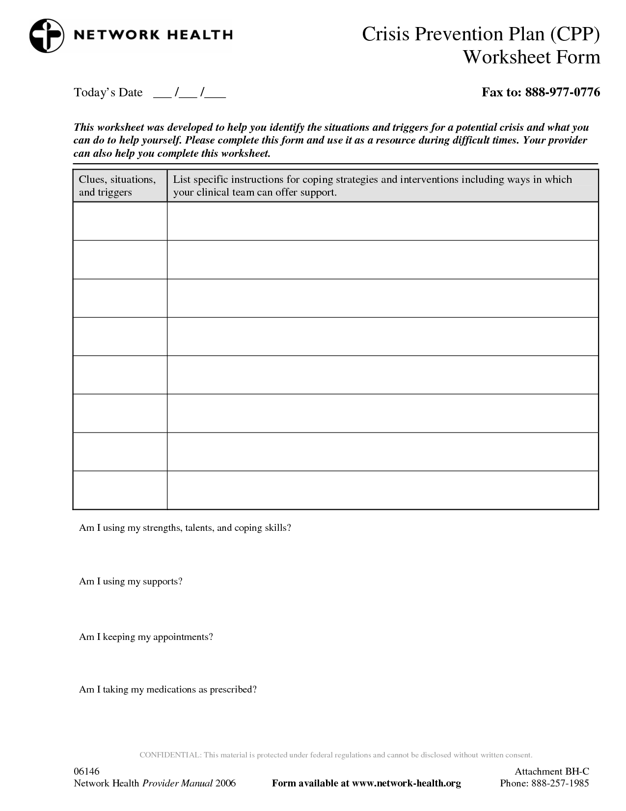 13 Best Images Of Relapse Prevention Plan Worksheets
