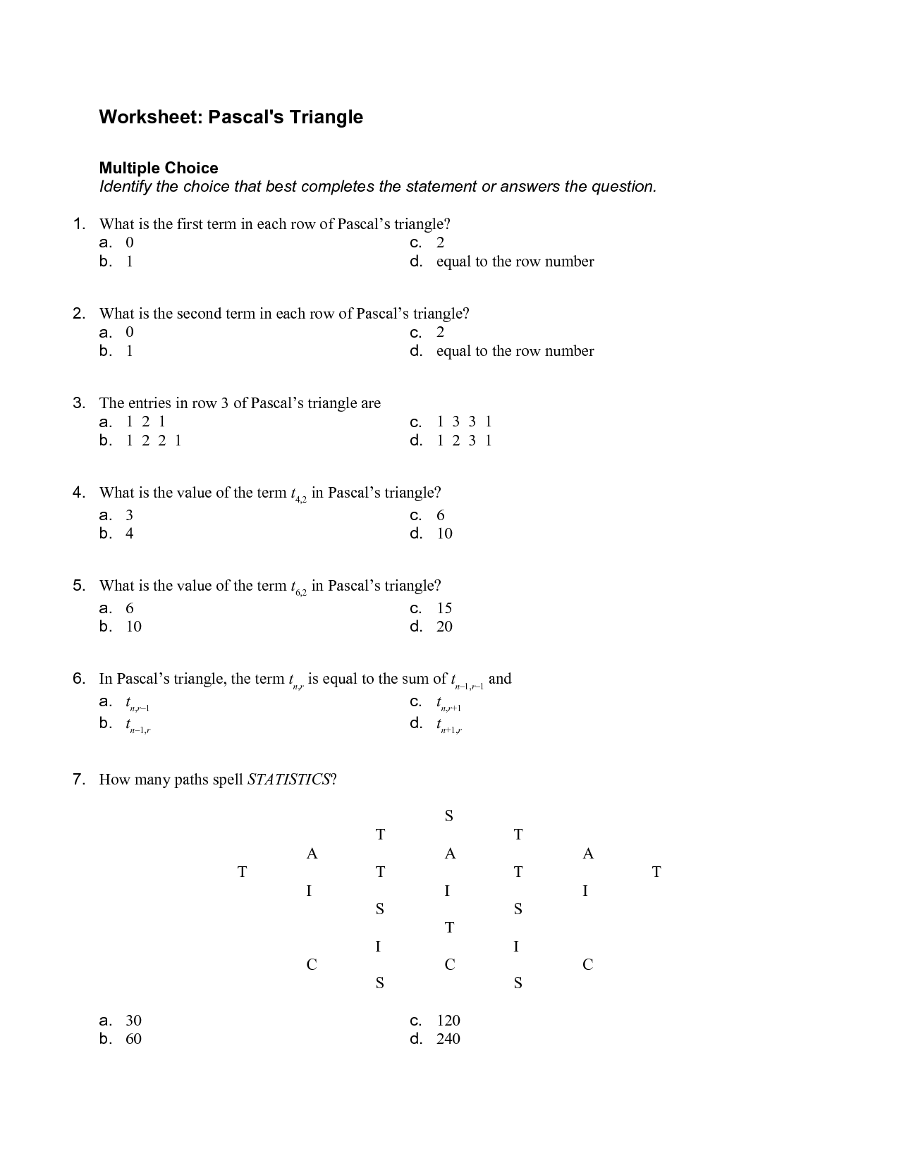7 Best Images Of Multiple Choice Worksheets For 2nd Grade