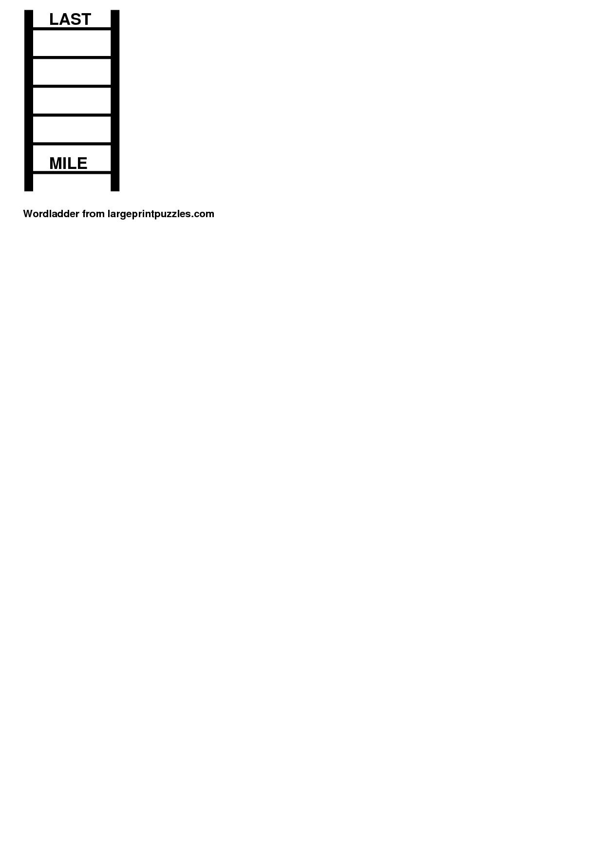 7 Best Images Of Blank Word Ladder Worksheet