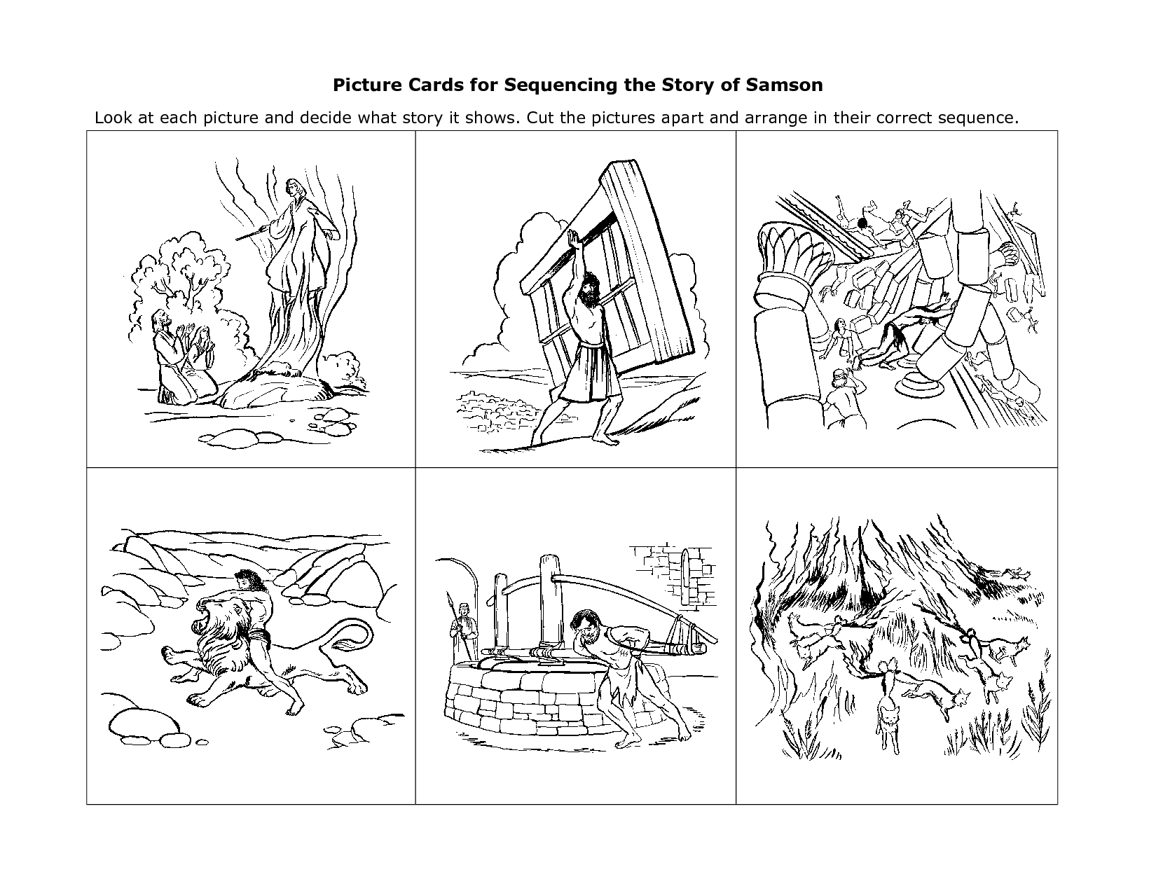 Picture Sequence Story Writing Worksheets