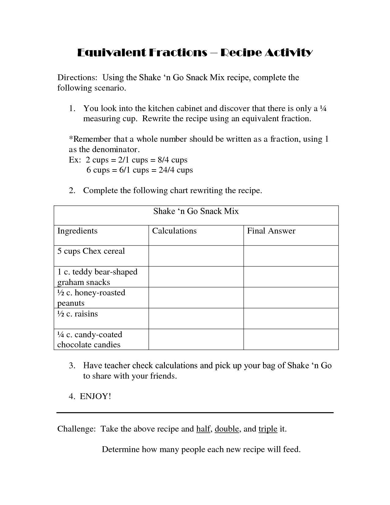 13 Best Images Of Worksheets Measuring Ingre Nts