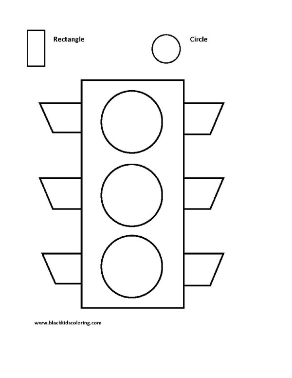 stop light coloring page # 66