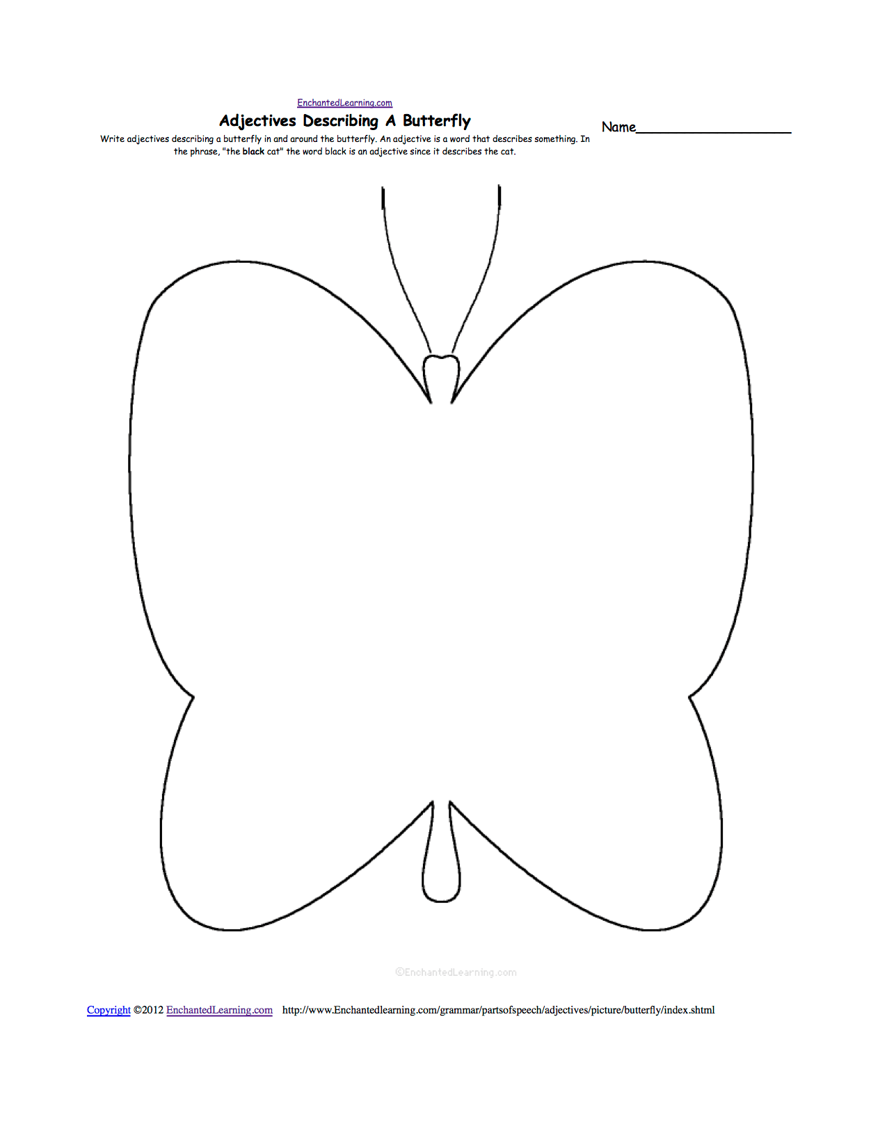 13 Best Images Of Parts Of A Butterfly Worksheet
