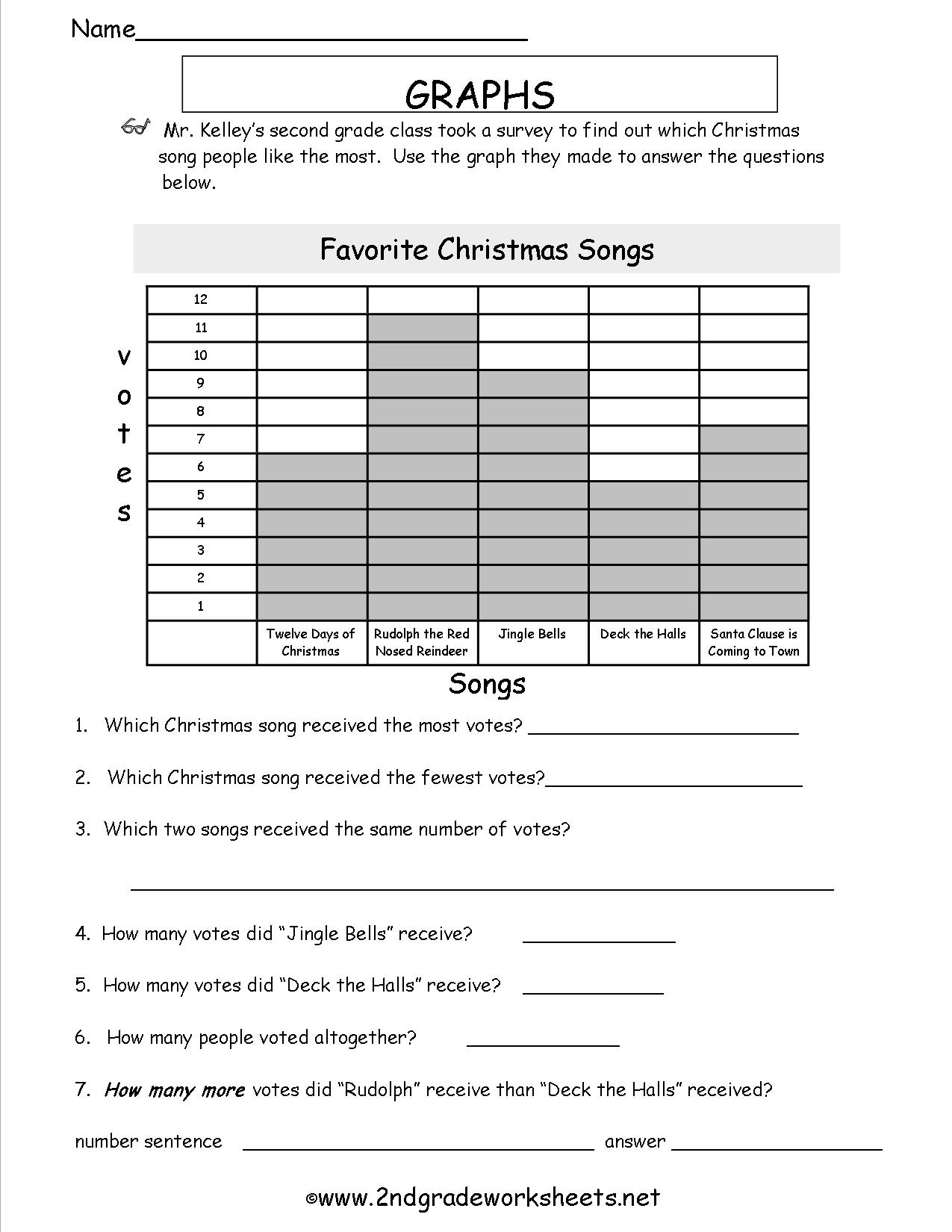 20 Best Images Of Winter Graphs Grade 1 Worksheets