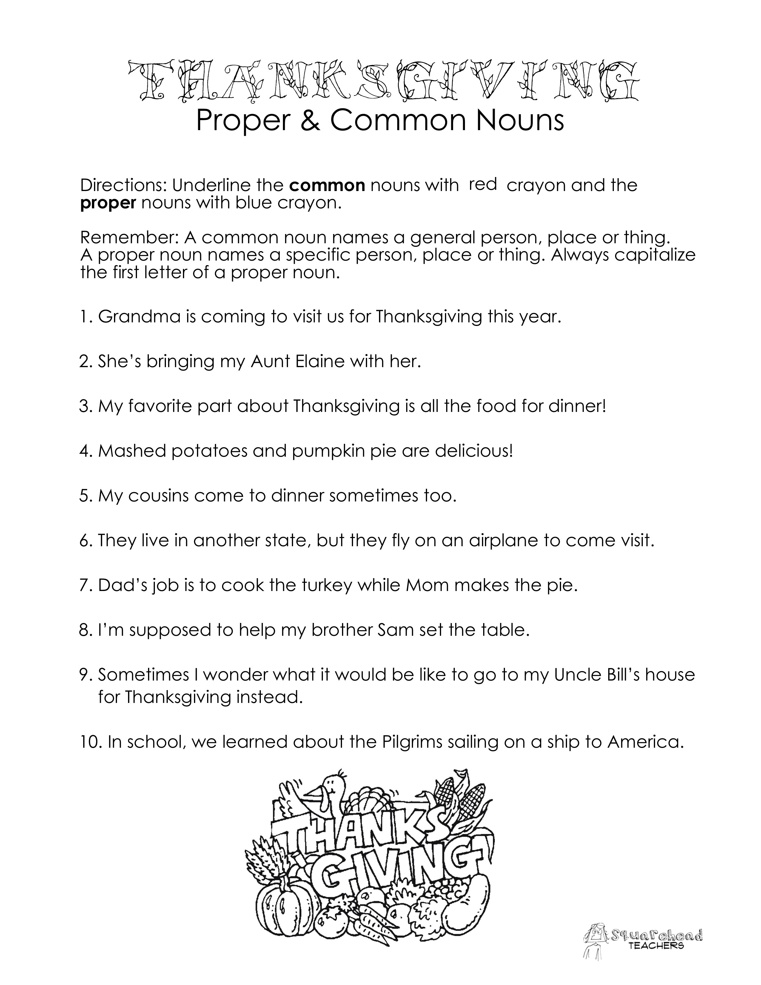 17 Best Images Of Silly Noun Worksheet