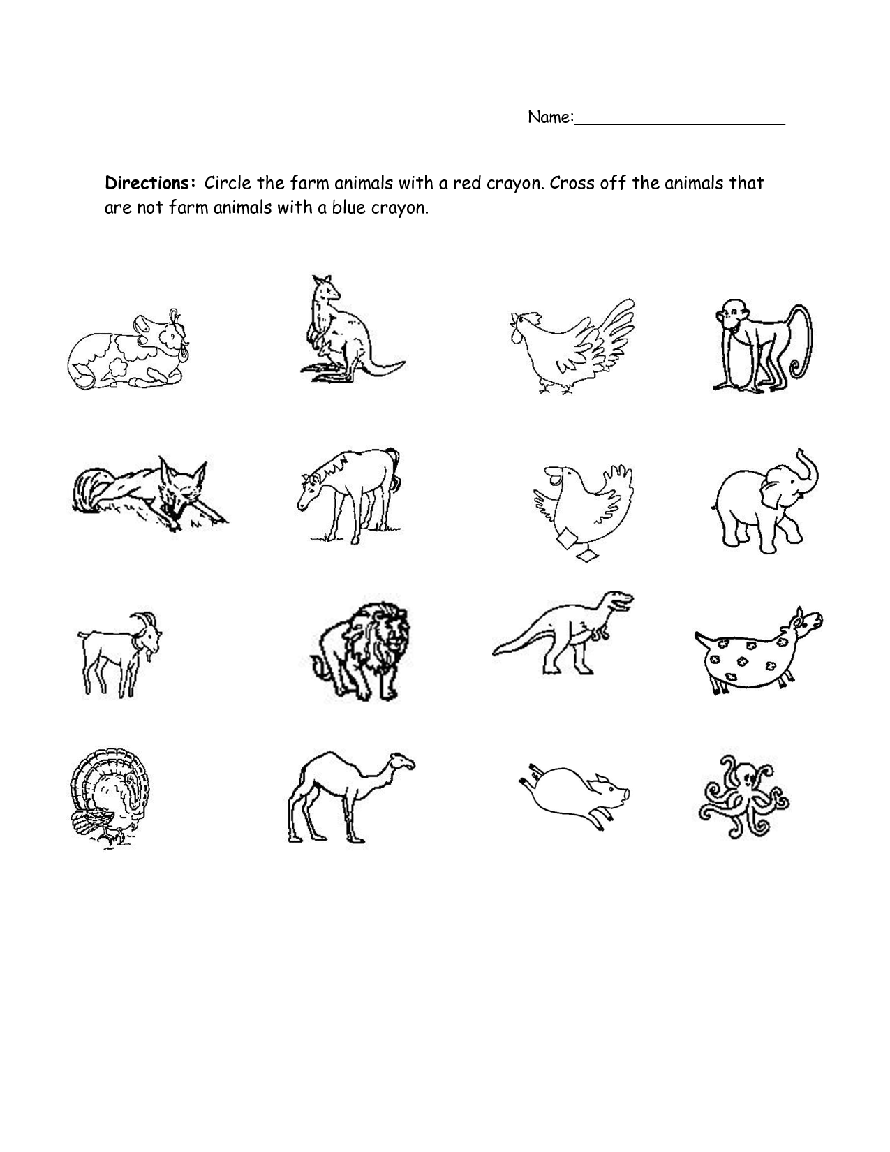 12 Best Images Of Animal Worksheets For Kindergarten