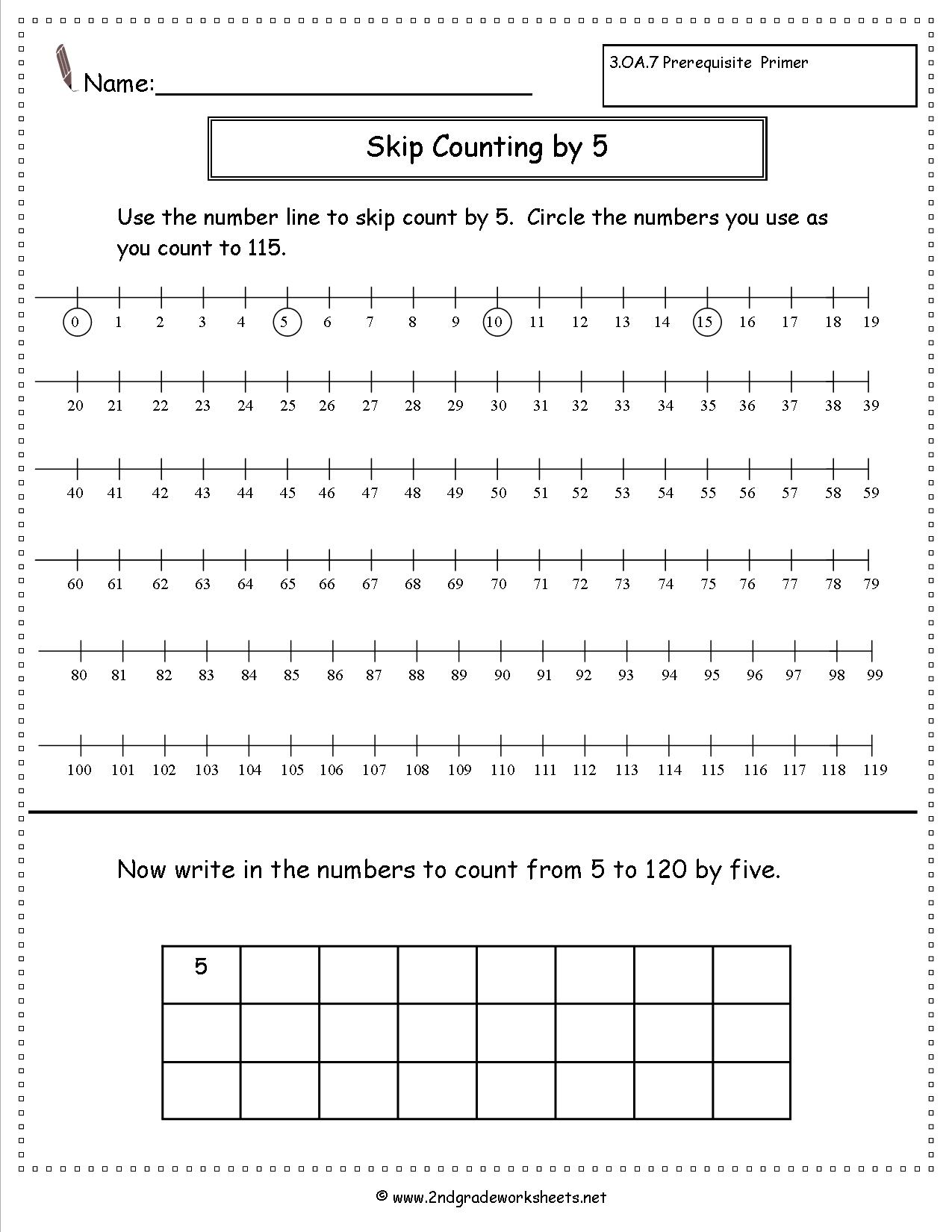 Skip Count By 10 To 100 Worksheet