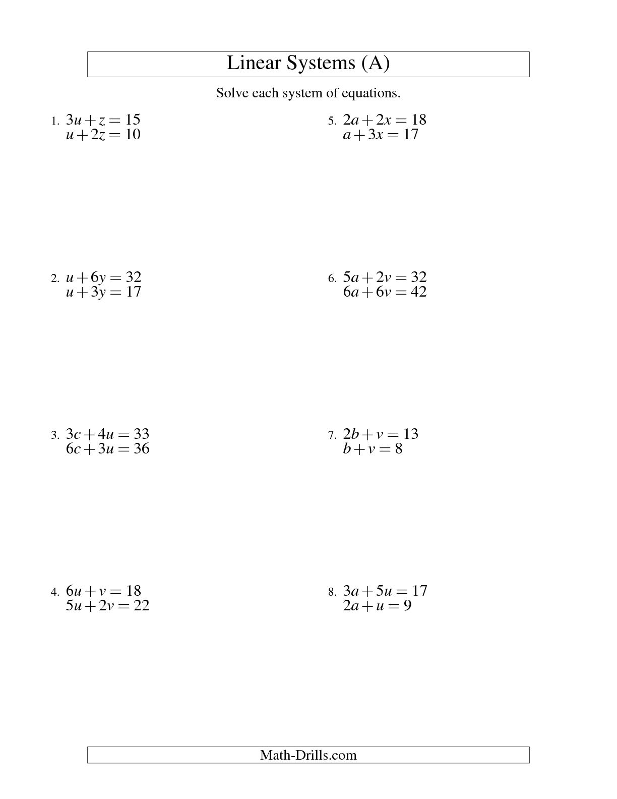 11 Best Images Of Mathematical Equation Worksheet