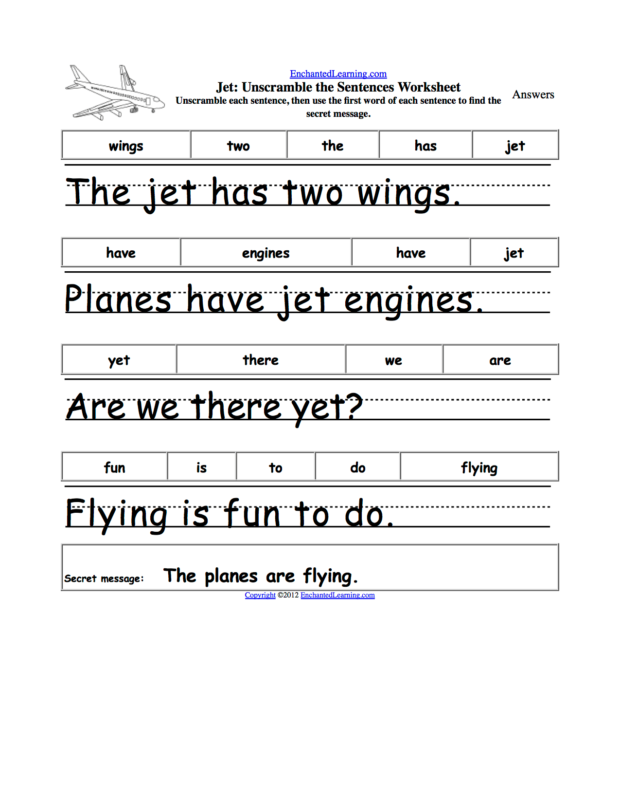 18 Best Images Of First Grade Sentence Writing Worksheet
