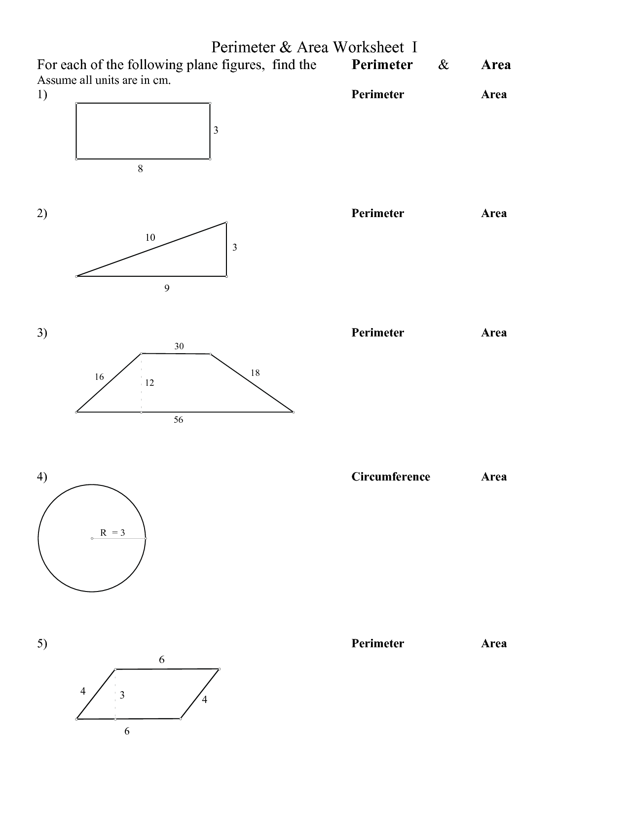 13 Best Images Of Plane Figures Worksheet