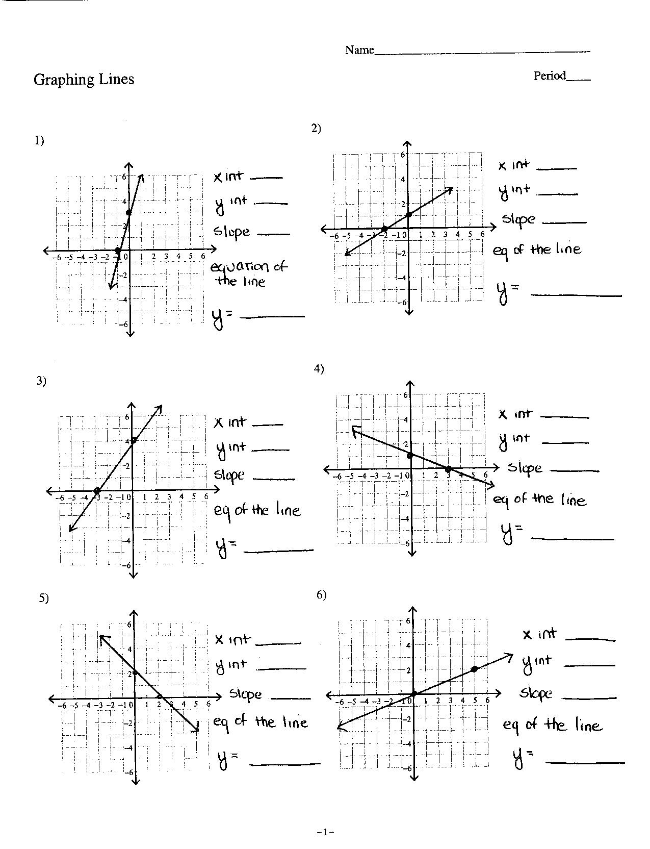 Graphing Linear And Exponential Equations Worksheet