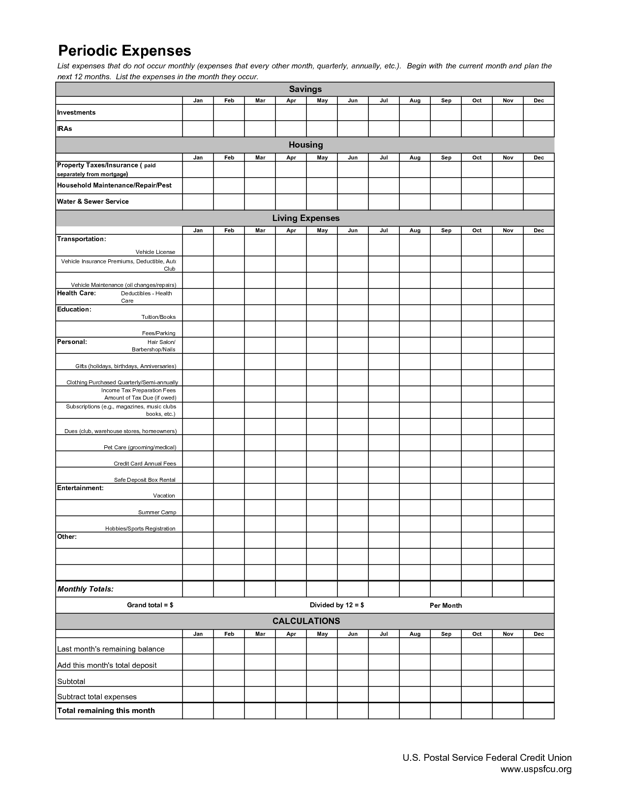 10 Best Images Of Accounting Monthly Budget Worksheet