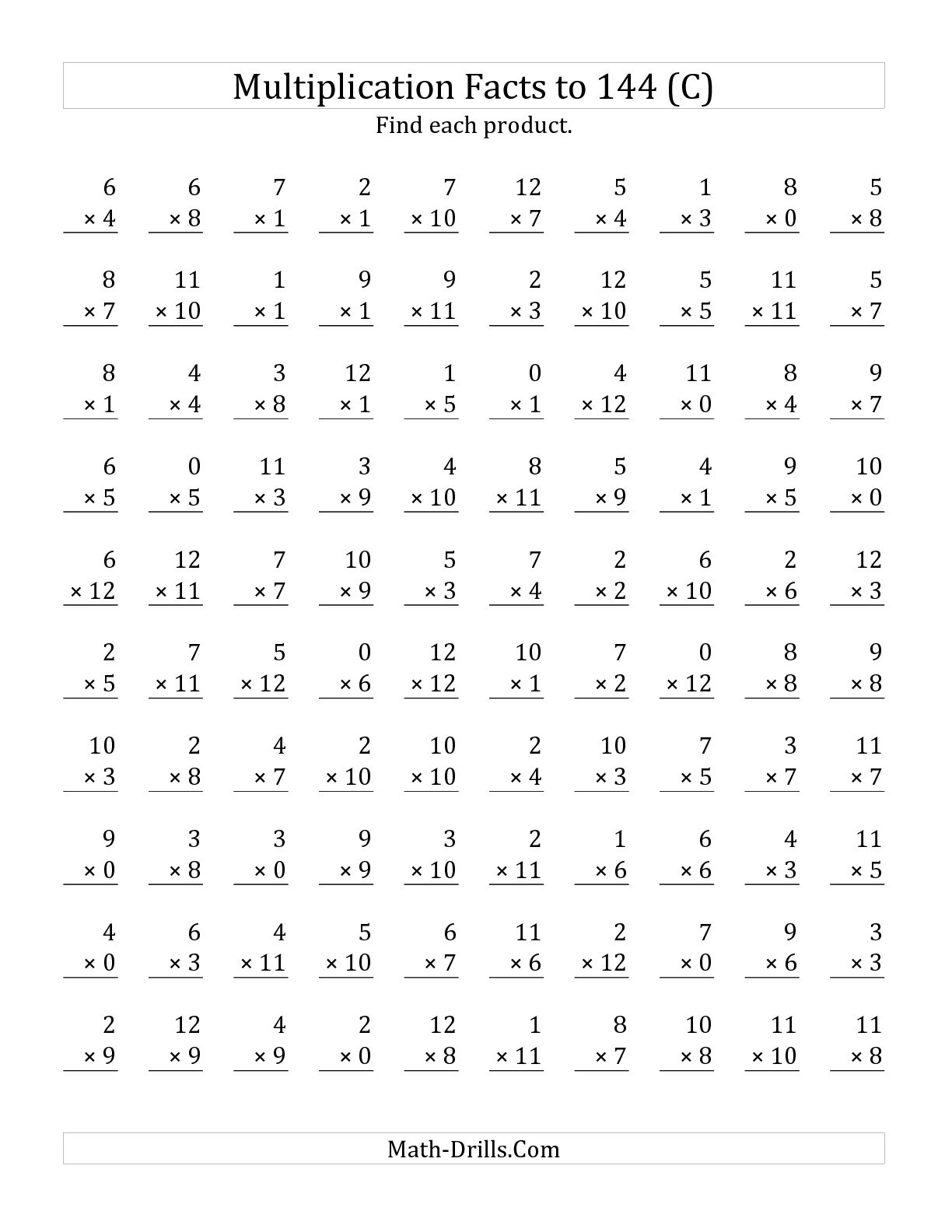 15 Best Images Of Mad Minute Multiplication Drill Worksheets