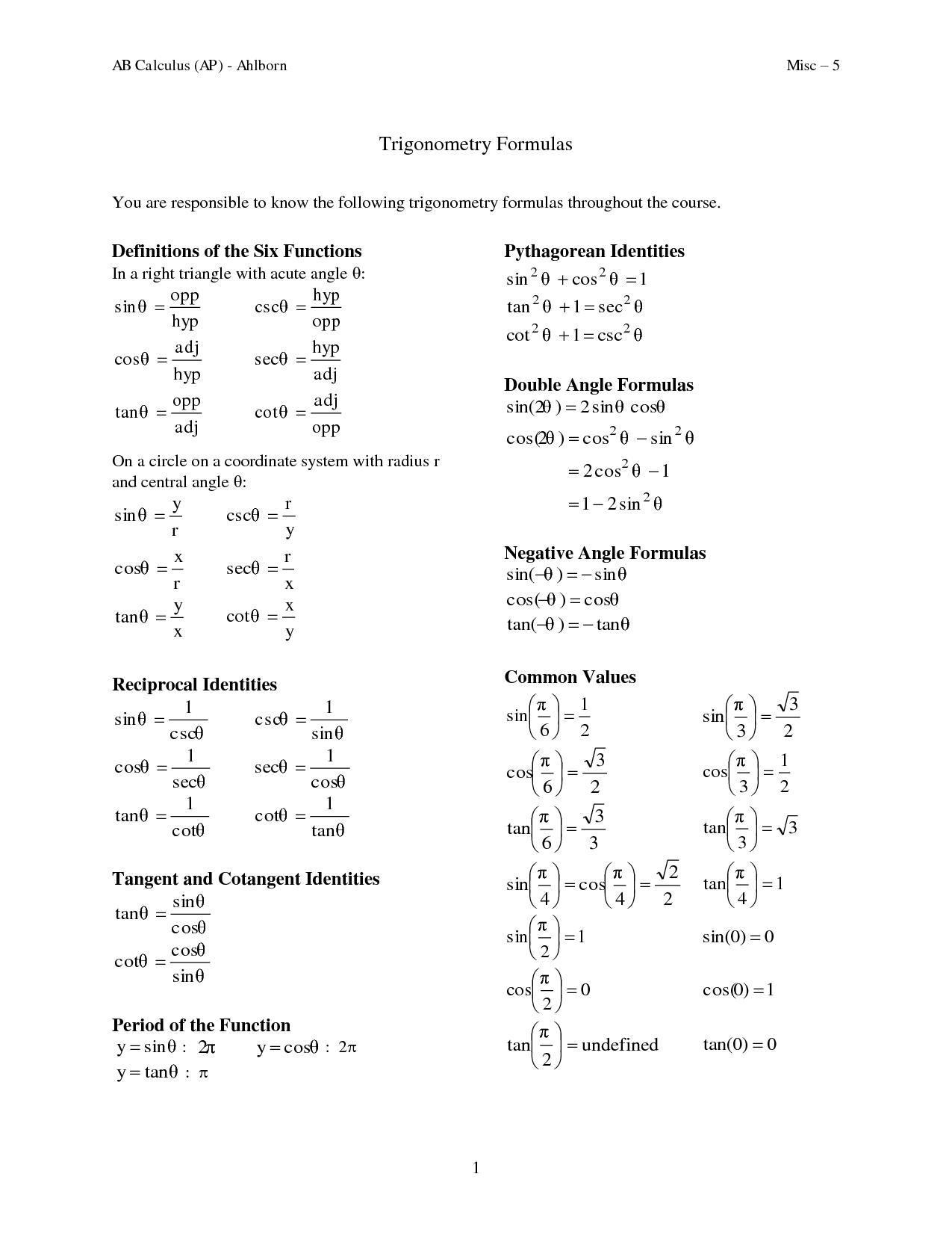 Common Core Polygon Worksheet