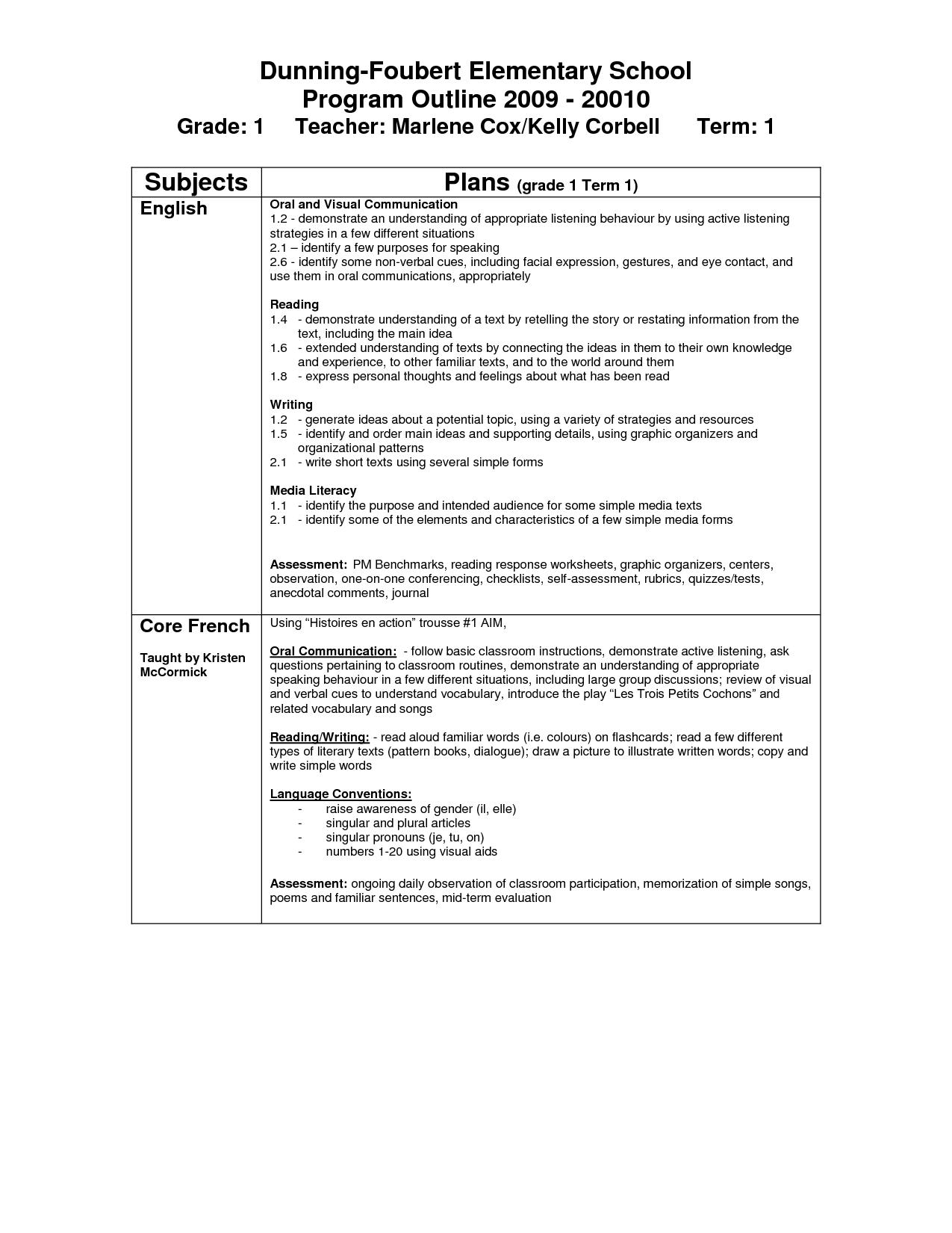 Community Worksheet 1st Grade