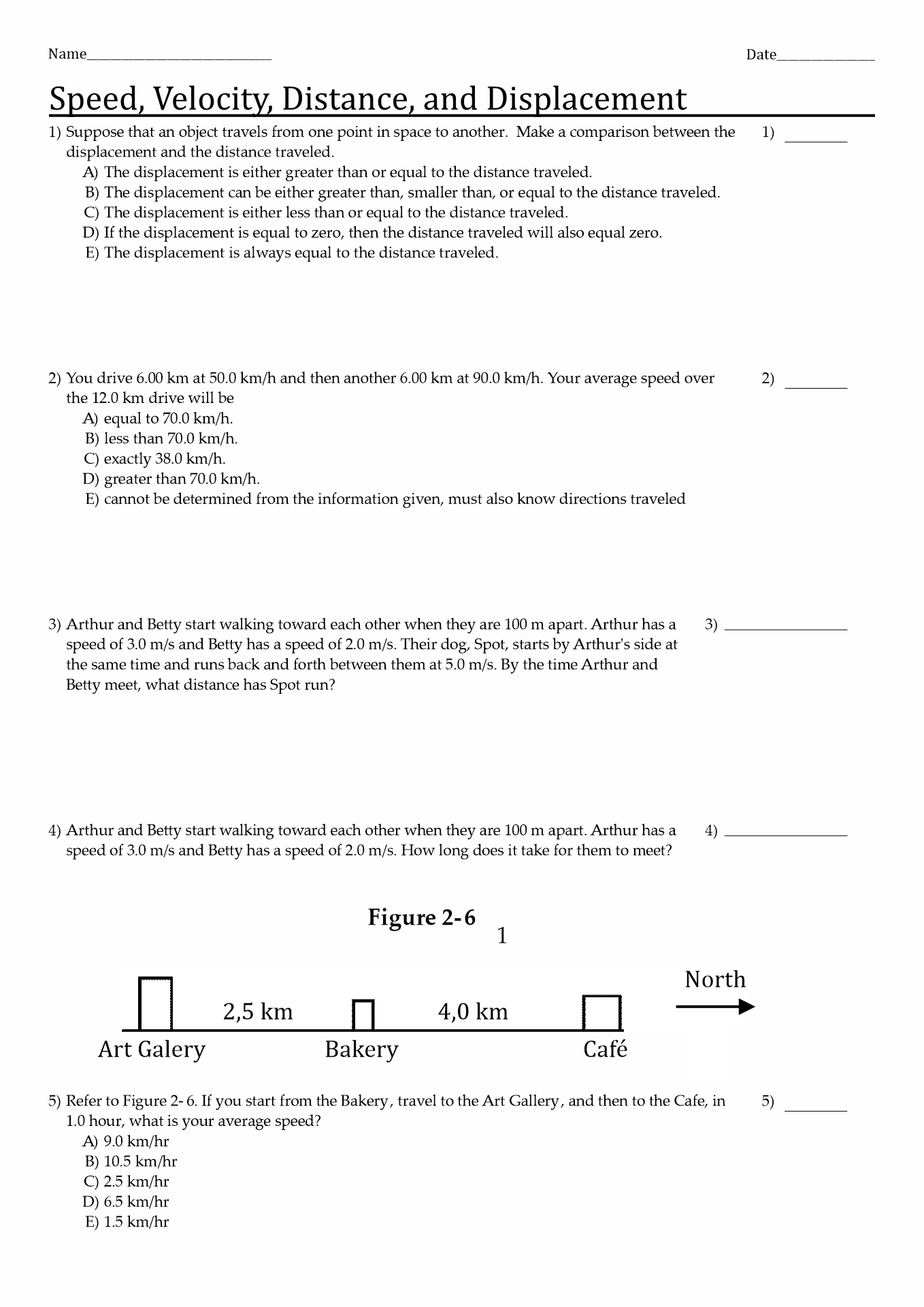 Water Displacement Method Worksheet