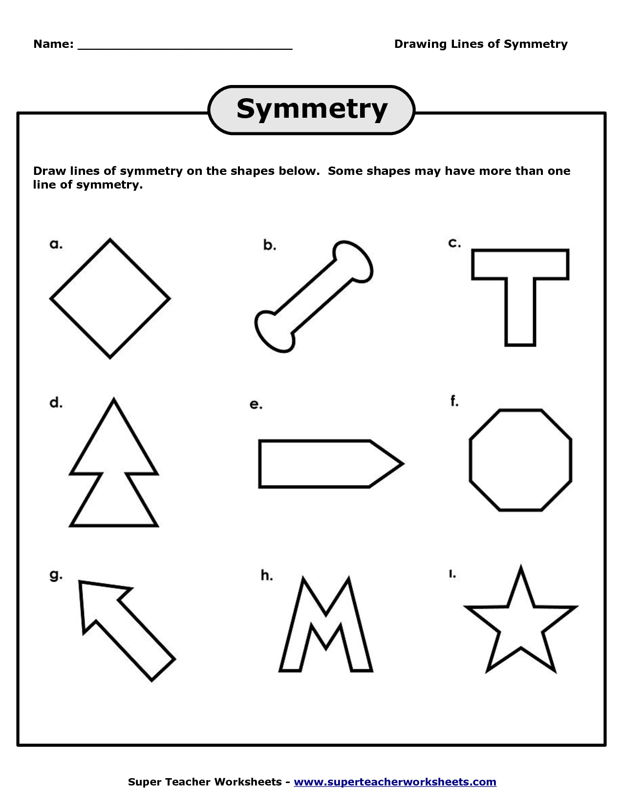 13 Best Images Of Printable Worksheets On Reflections