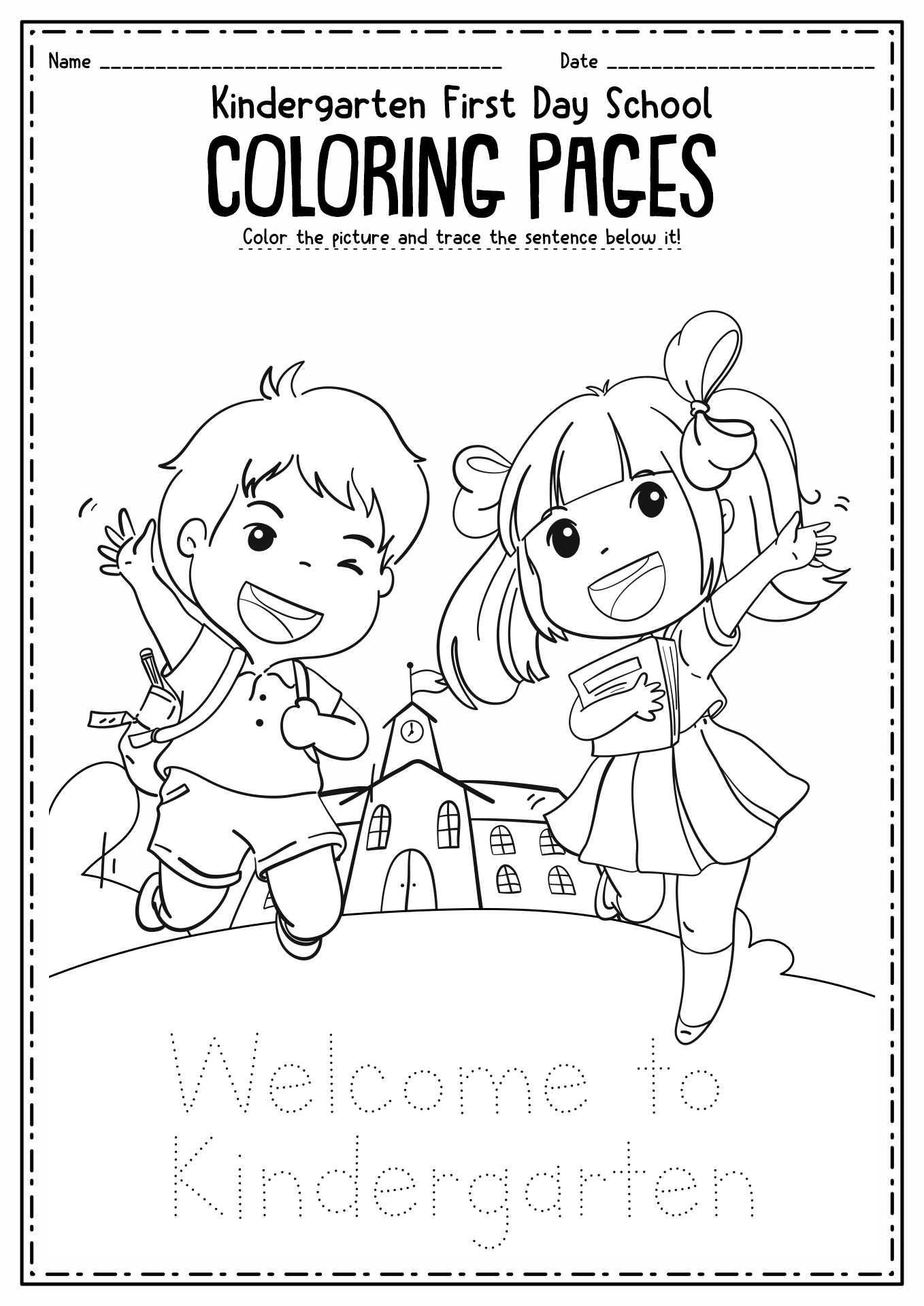 12 Best Images Of First Day Of Kindergarten Worksheets