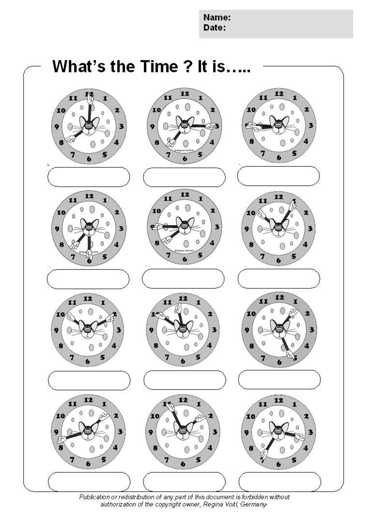 Time O Clock And Half Past Worksheets